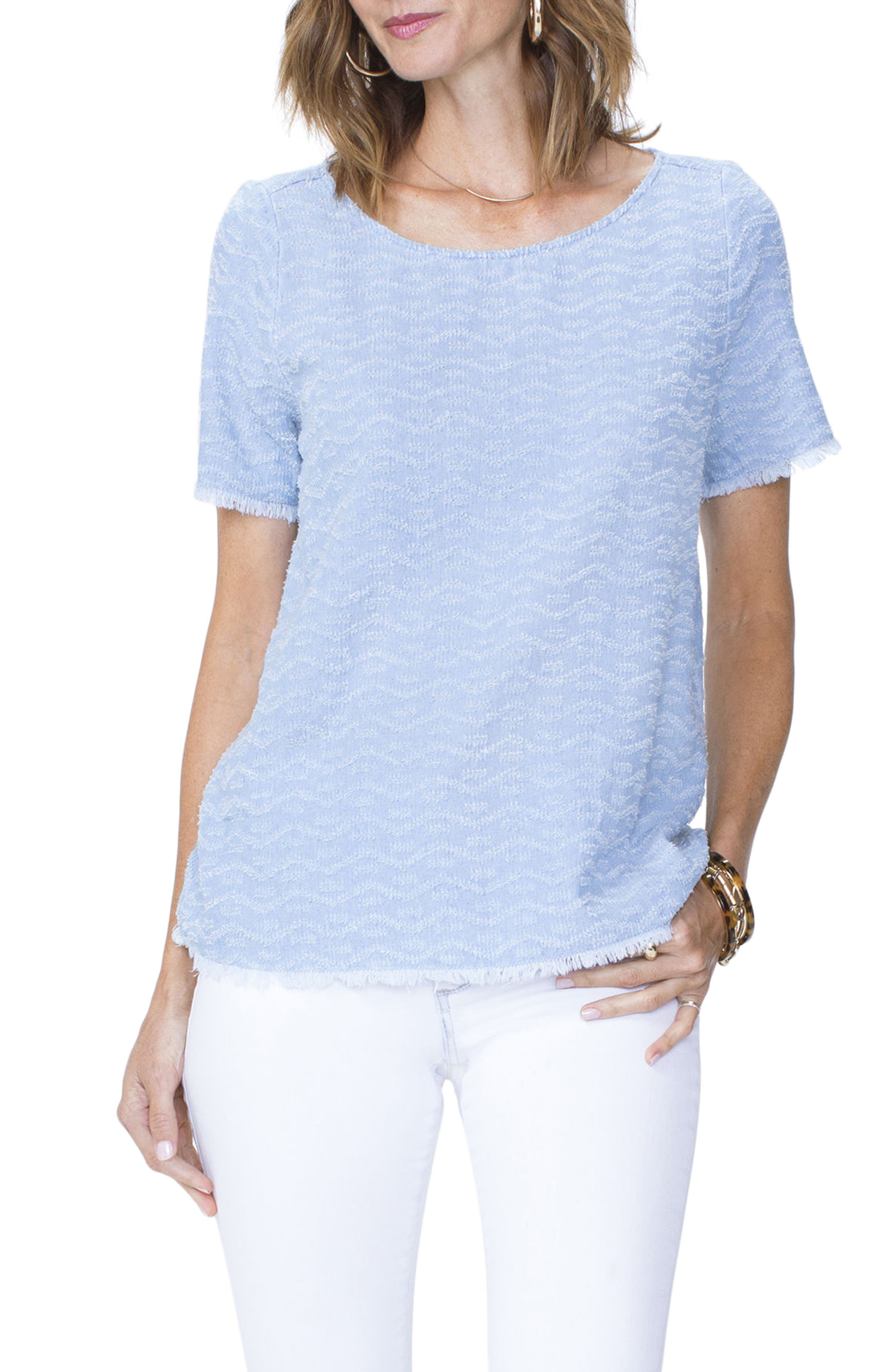 Textured Woven Tee,                         Main,                         color, Tidal Wave Wash