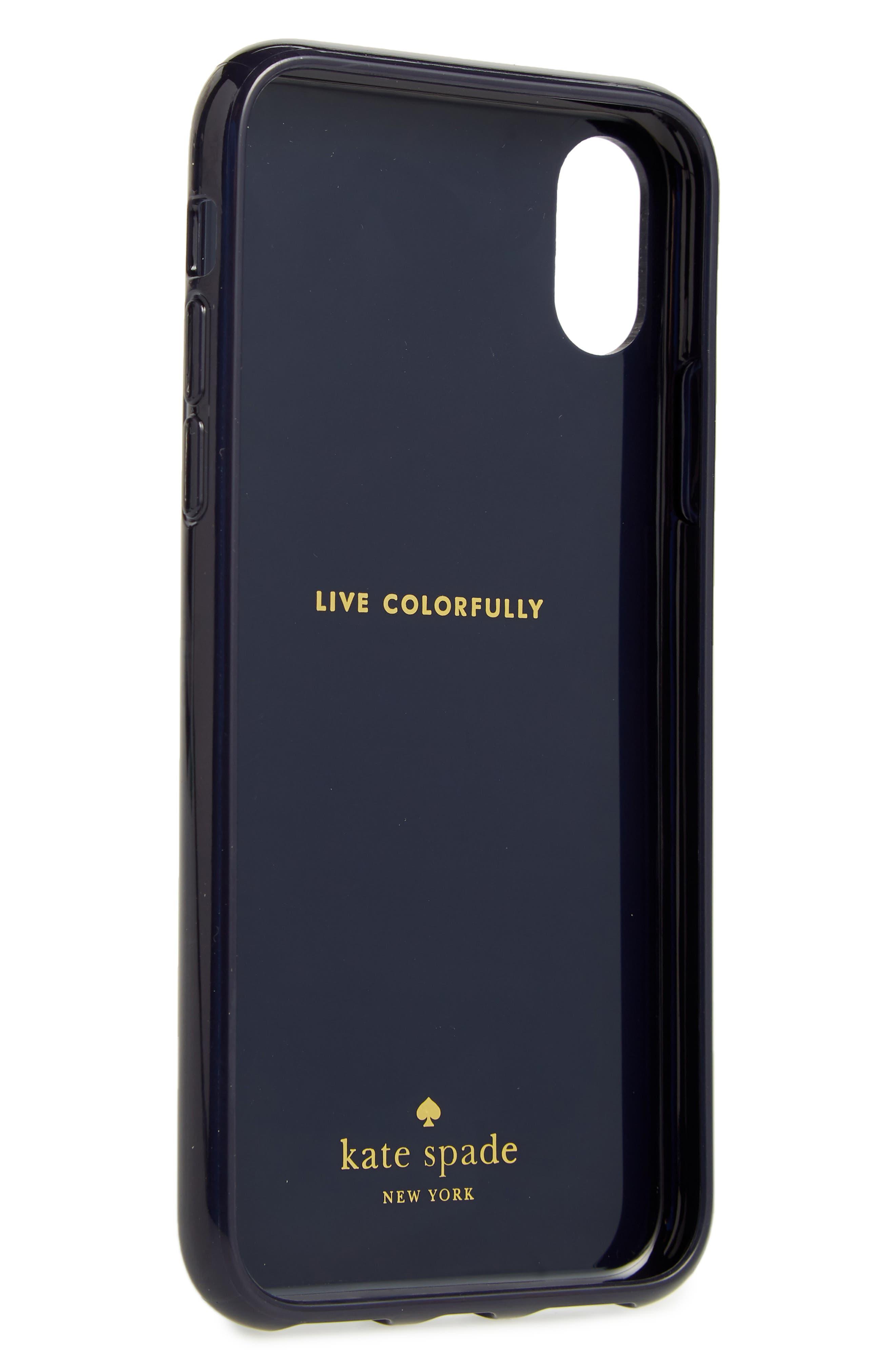 jeweled daisy iPhone X case,                             Alternate thumbnail 2, color,                             Blue Multi