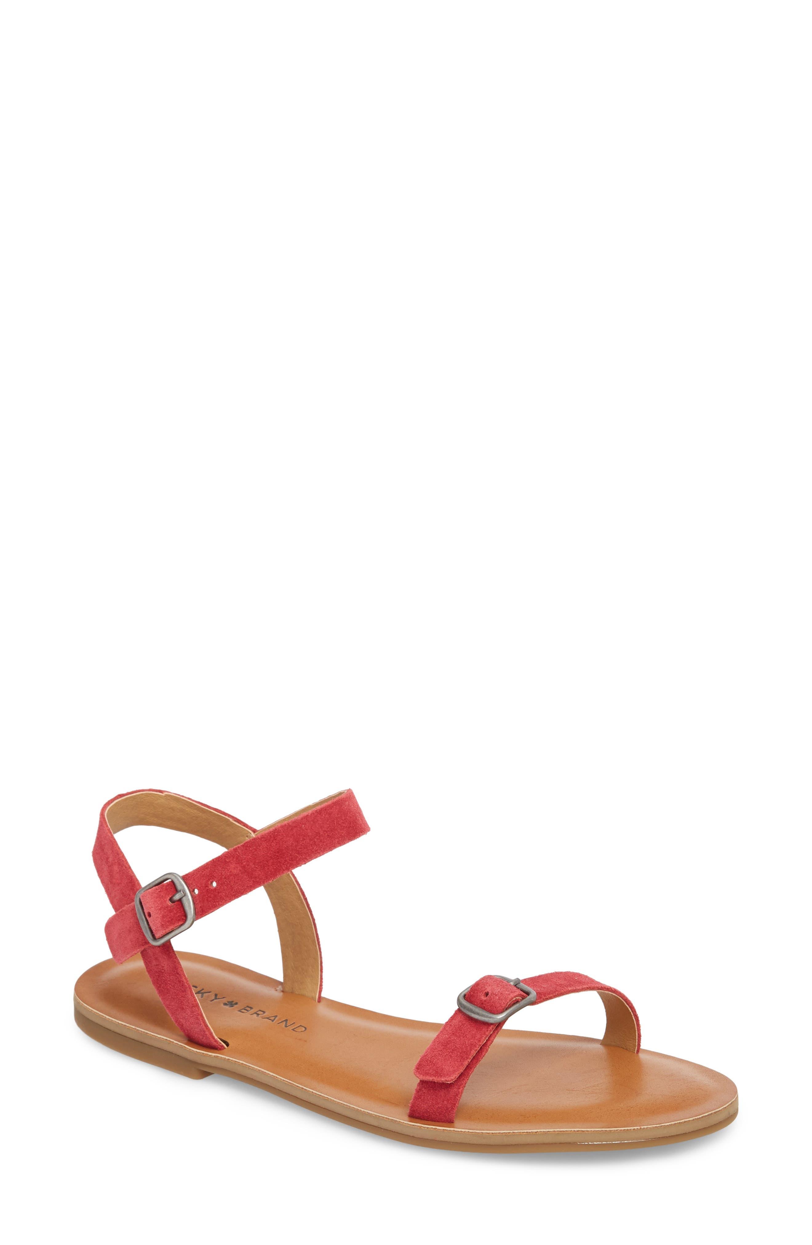 Adymaris Sandal,                         Main,                         color, Sb Red Suede