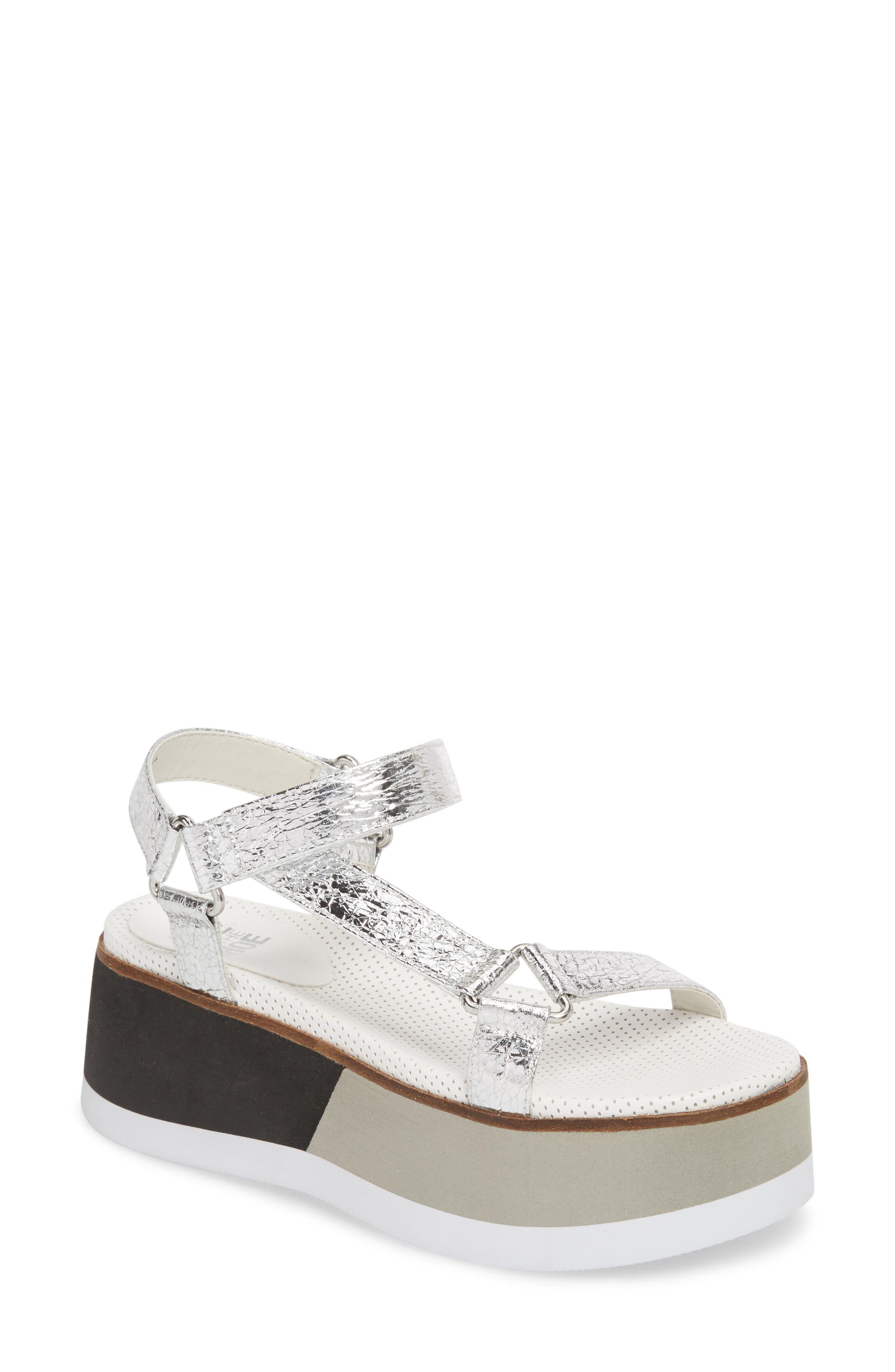 Jayden Platform Sport Sandal,                             Main thumbnail 1, color,                             Silver