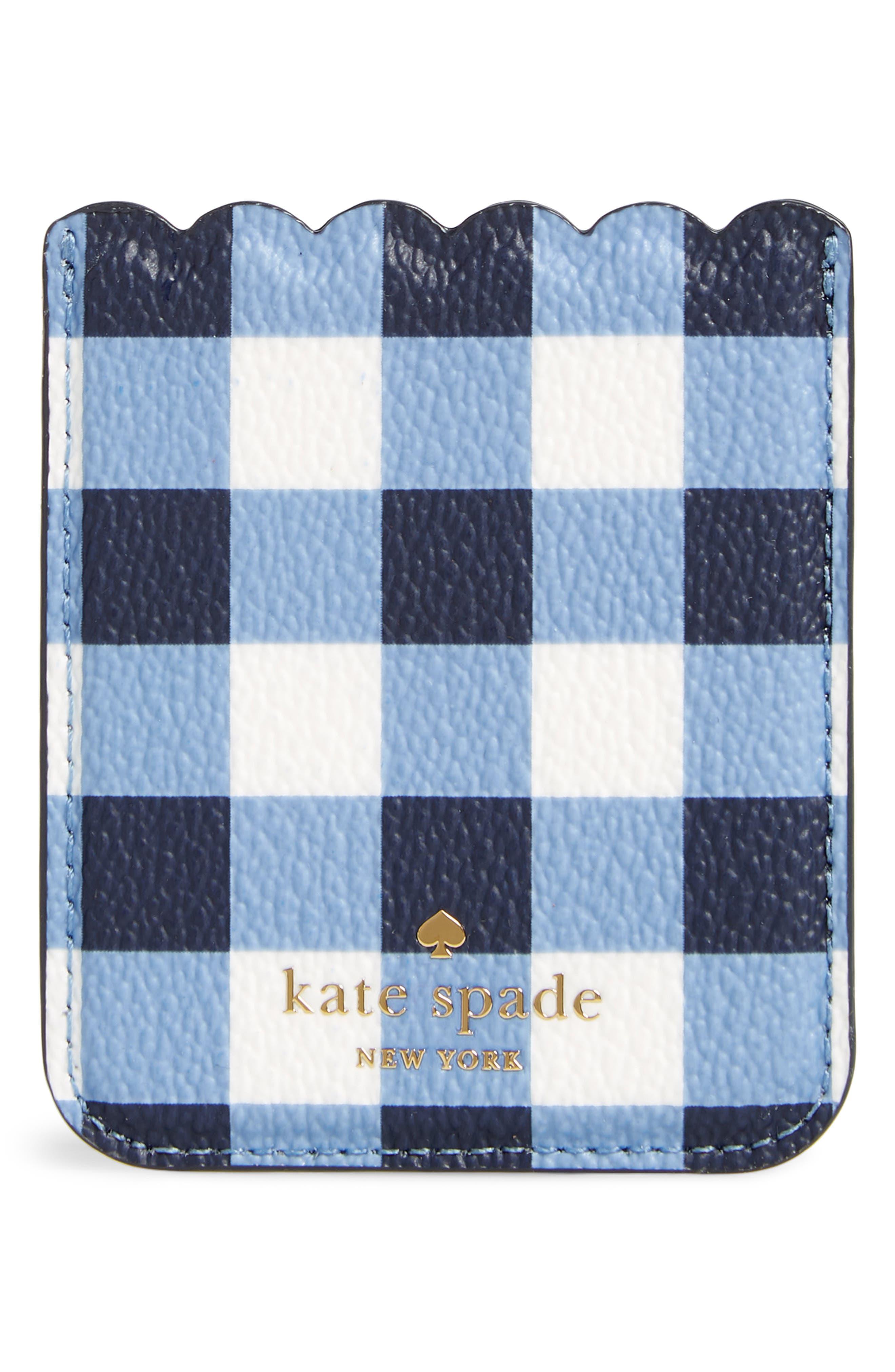 kate spad new york iPhone 7/8/X sticker pocket,                             Main thumbnail 1, color,                             Navy Multi