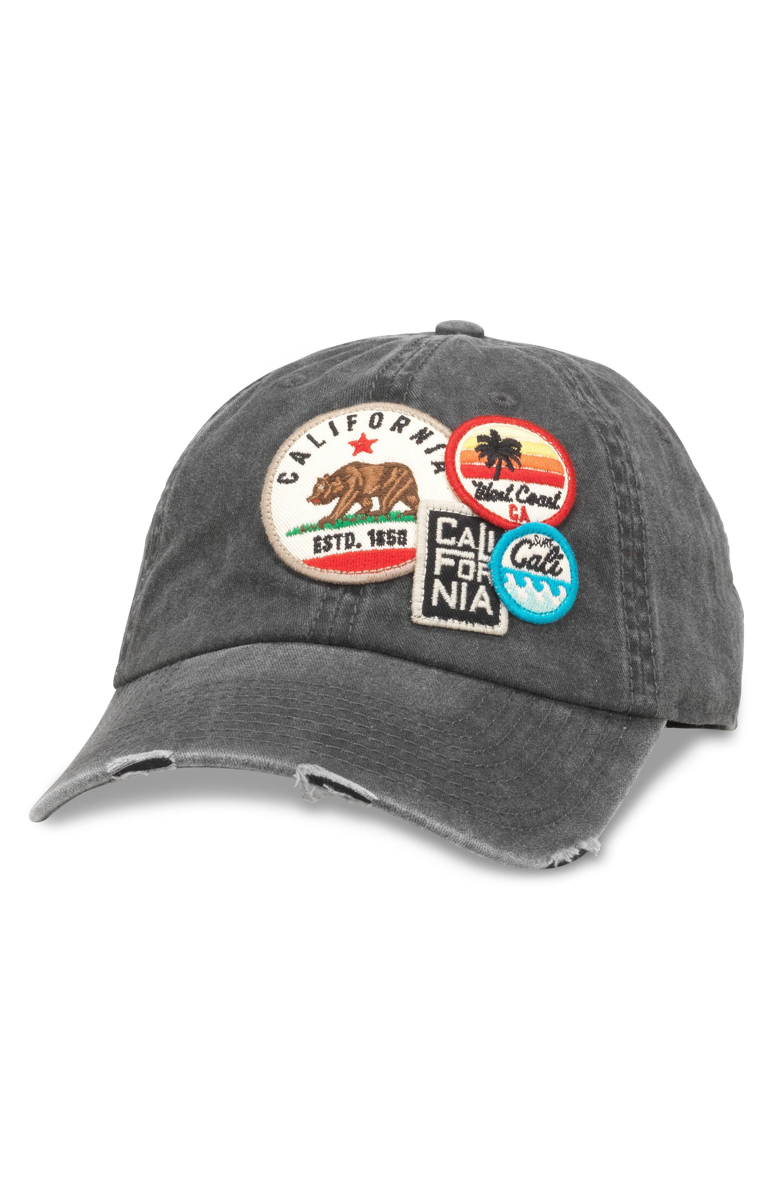 Iconic California Ball Cap,                             Main thumbnail 1, color,                             Black