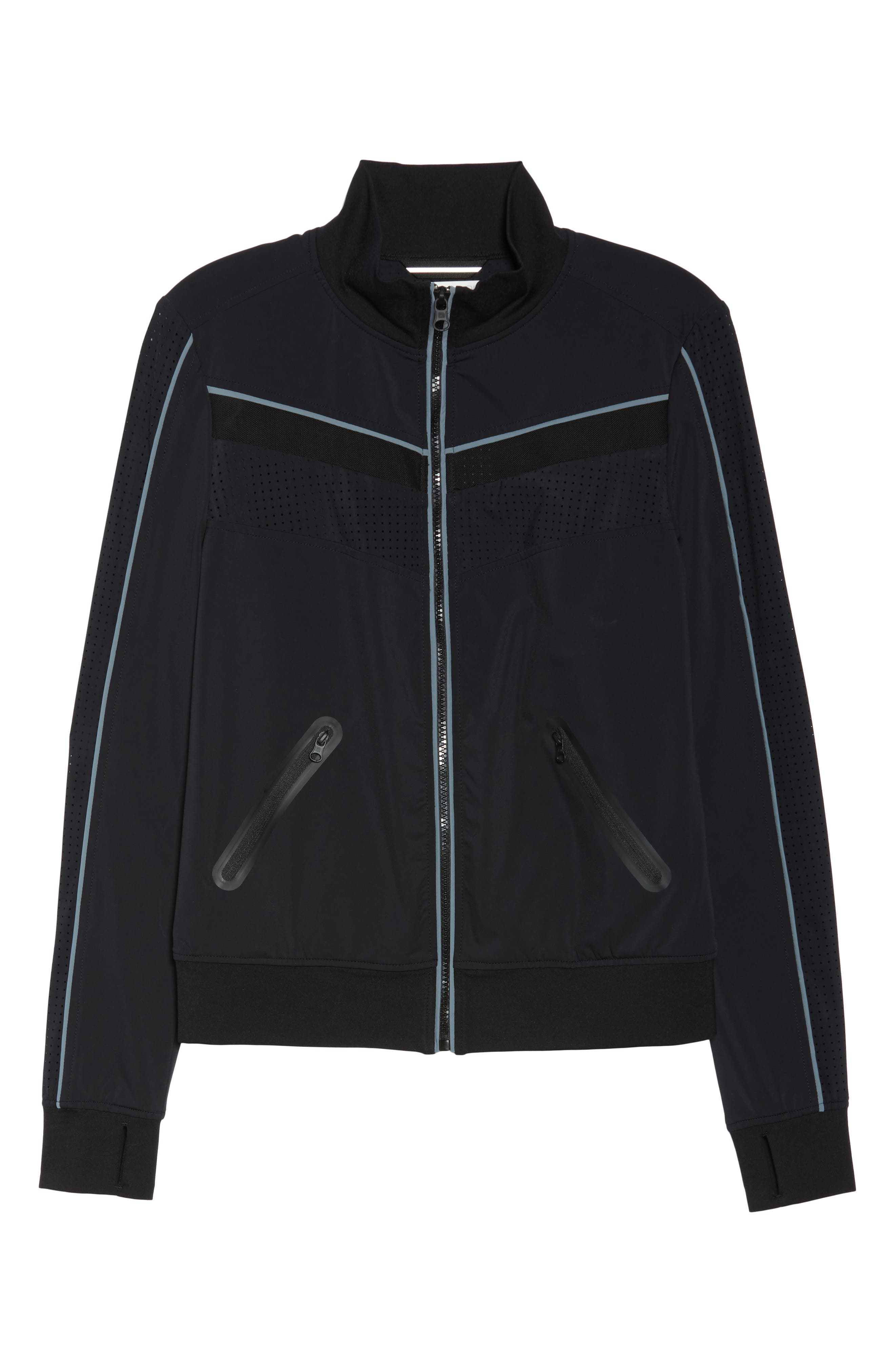 Jog Jacket,                             Alternate thumbnail 7, color,                             Black