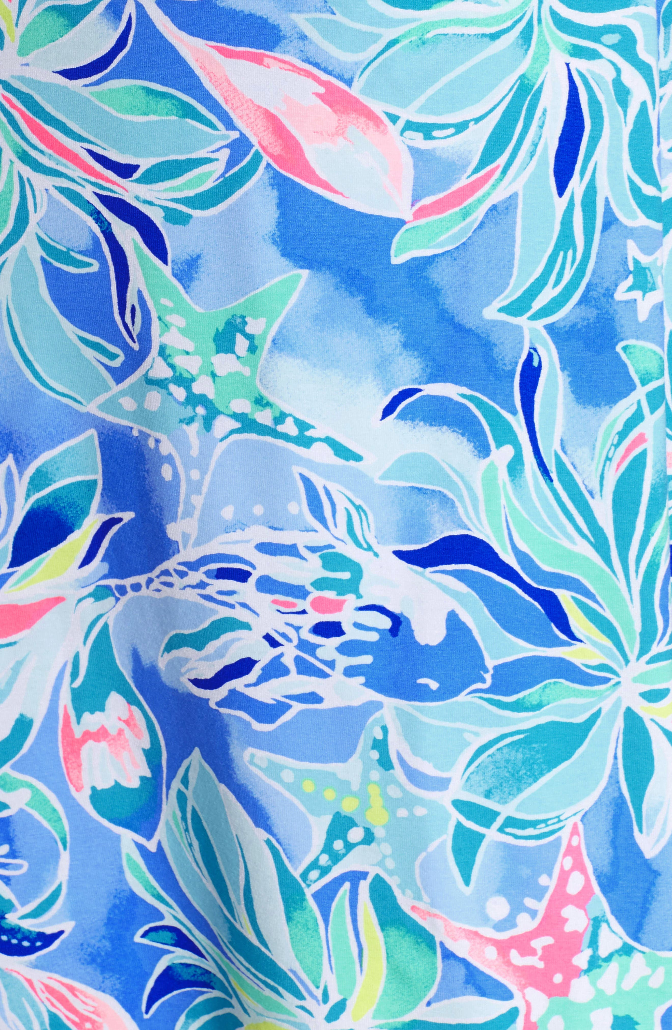 Karlie Wrap Romper,                             Alternate thumbnail 5, color,                             Bennet Blue Celestial Seas