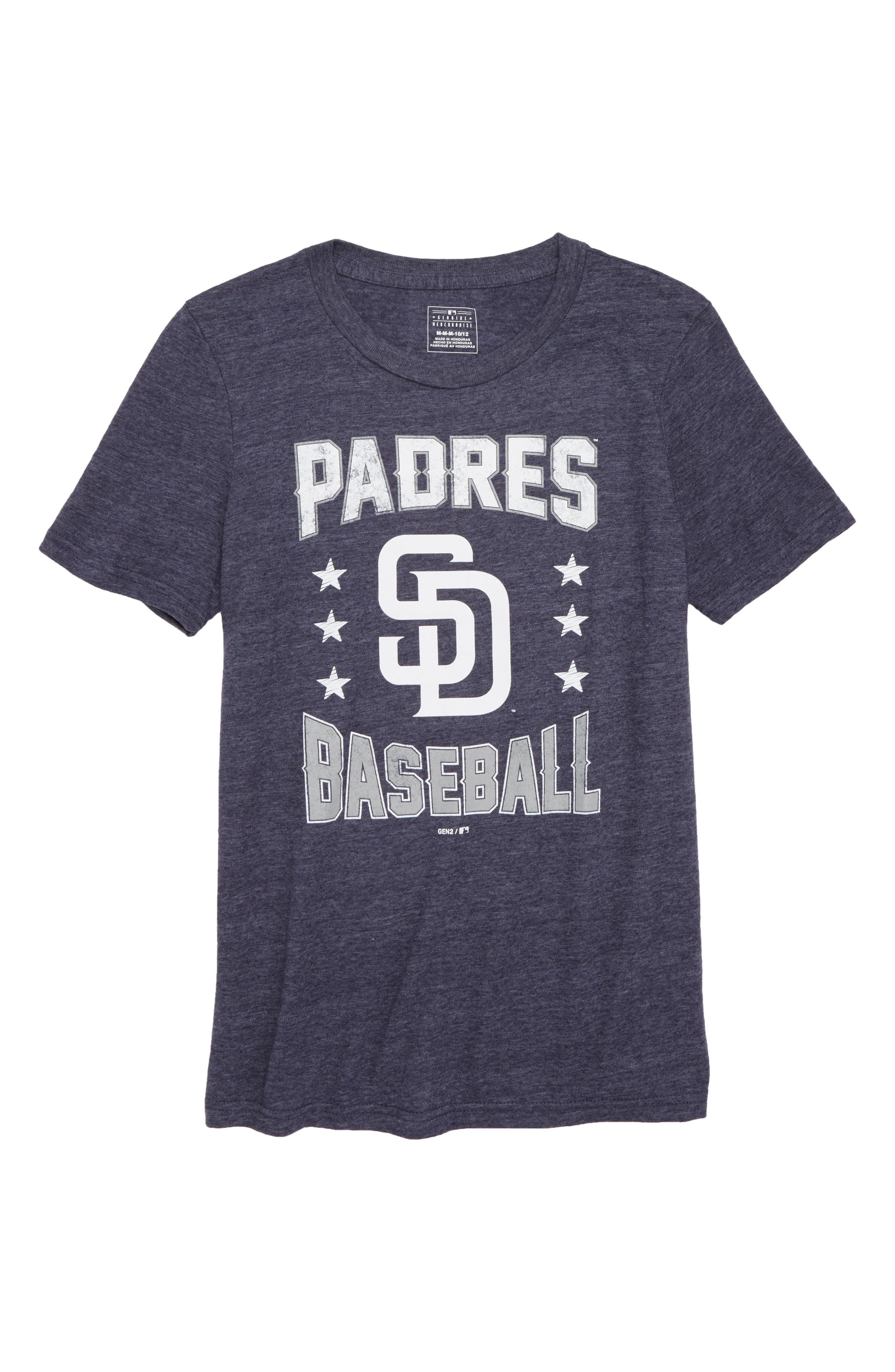 San Diego Padres Triple Play T-Shirt,                             Main thumbnail 1, color,                             Navy