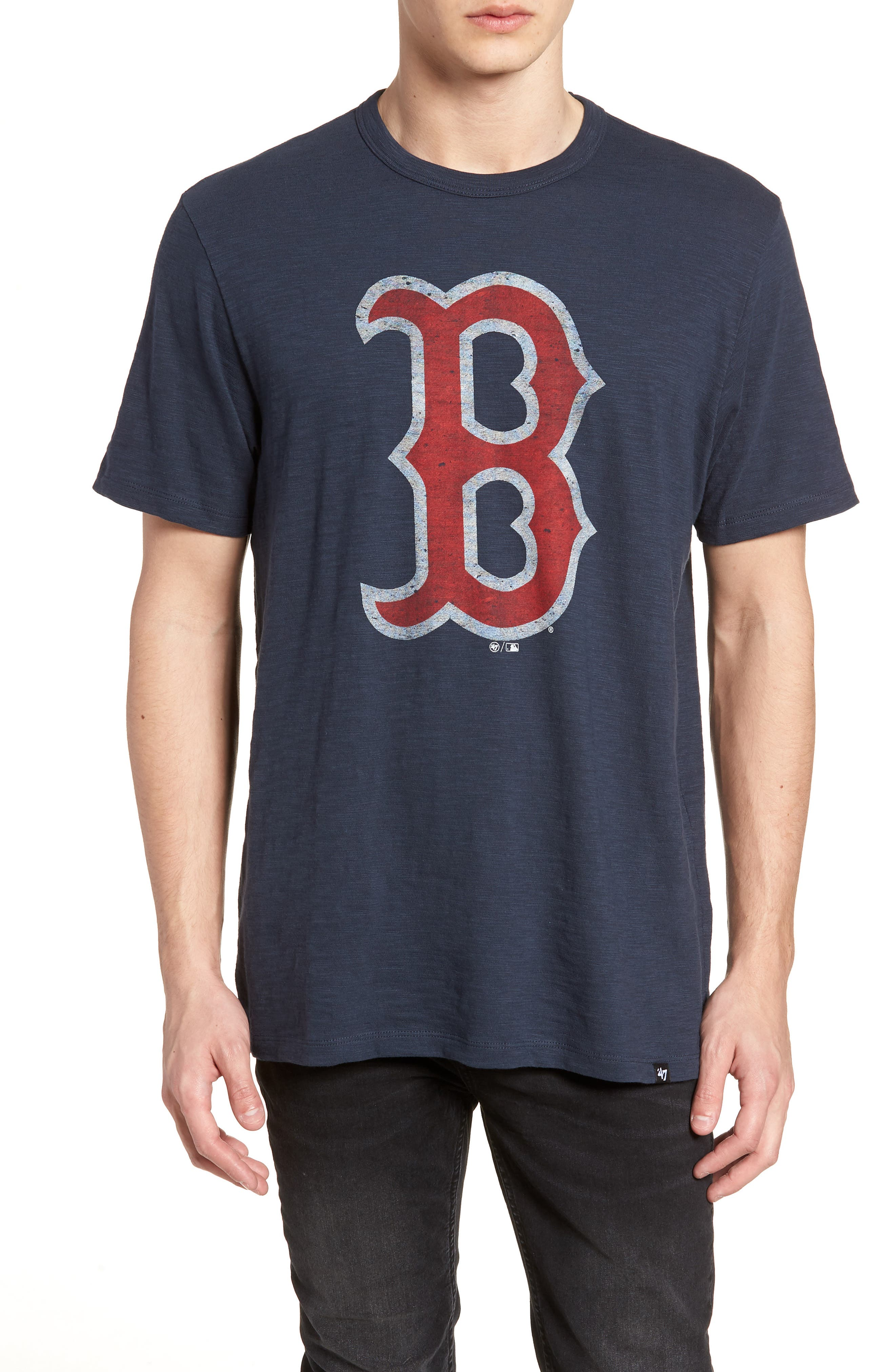 Grit Scrum Boston Red Sox T-Shirt,                         Main,                         color, Midnight
