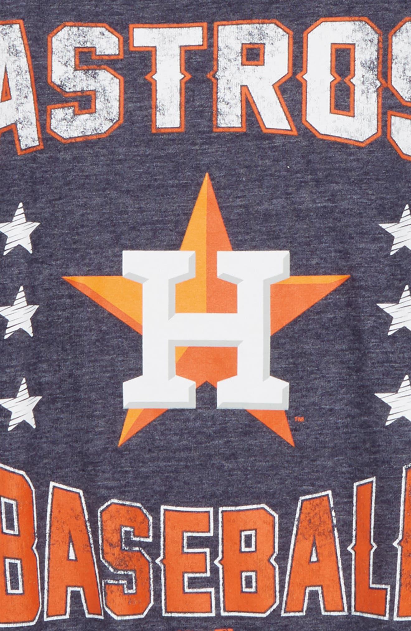 Alternate Image 2  - Majestic MLB Houston Astros Triple Play T-Shirt (Big Boys)