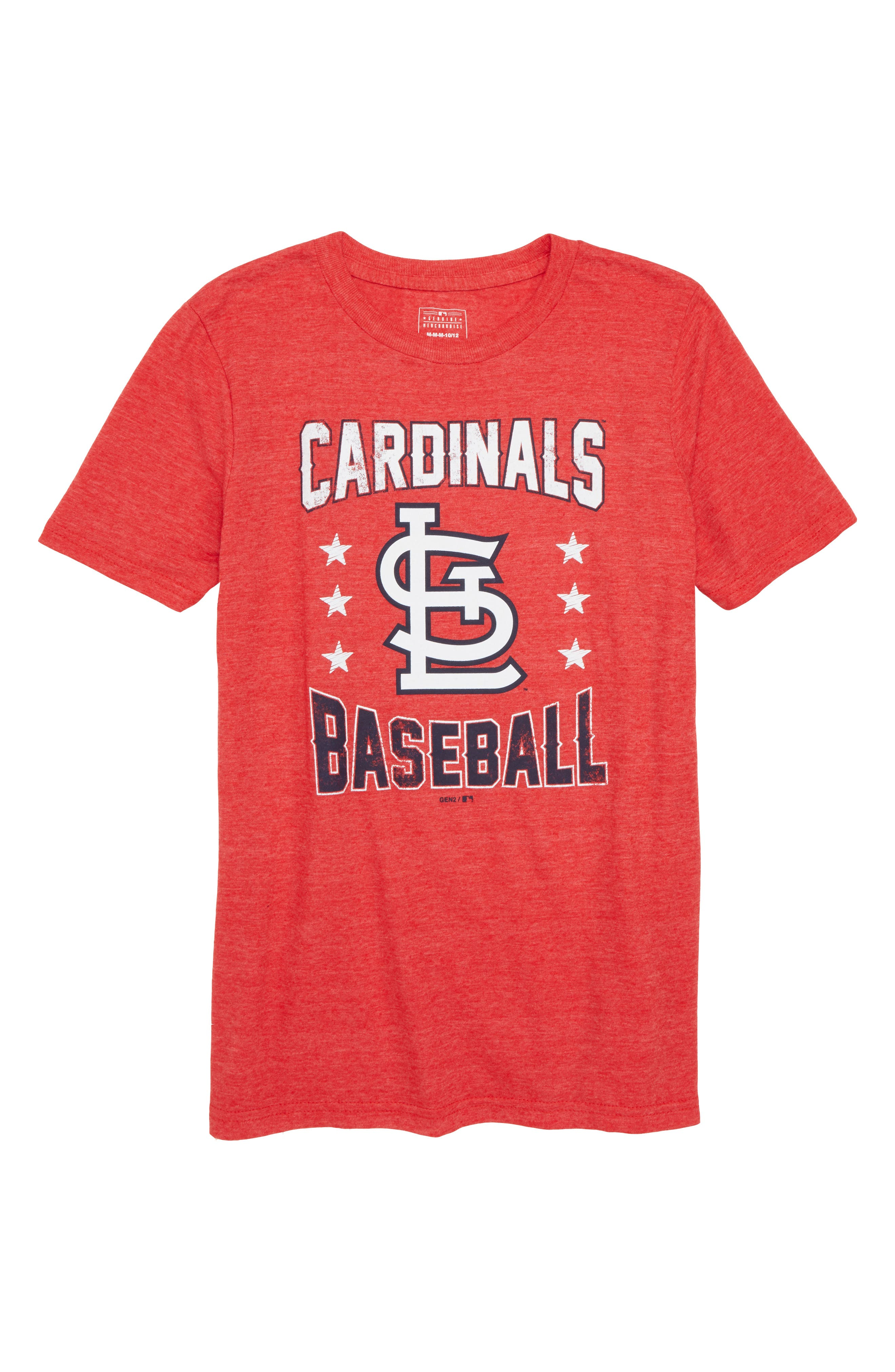 St. Louis Cardinals Triple Play T-Shirt,                             Main thumbnail 1, color,                             Red