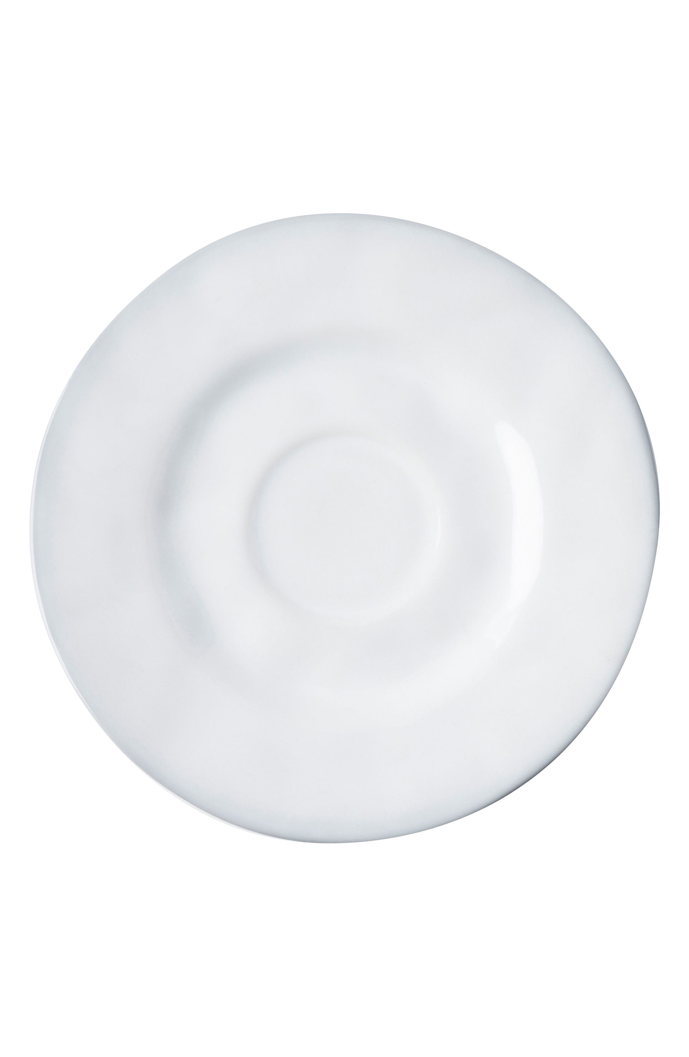 Quotidien White Truffle Ceramic Saucer,                         Main,                         color, White Truffle