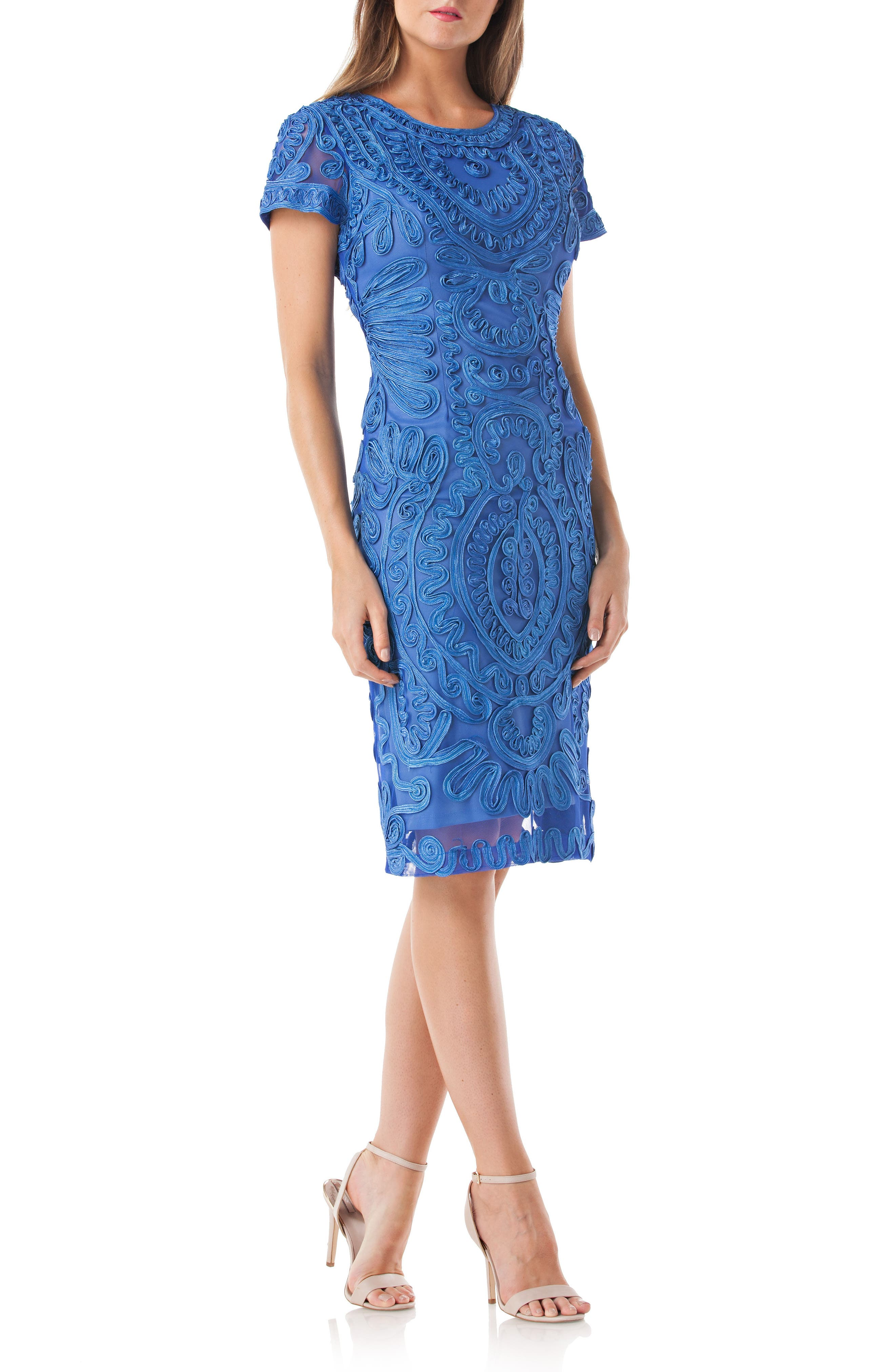 Alternate Image 1 Selected - JS Collections Soutache Dress (Regular & Petite)
