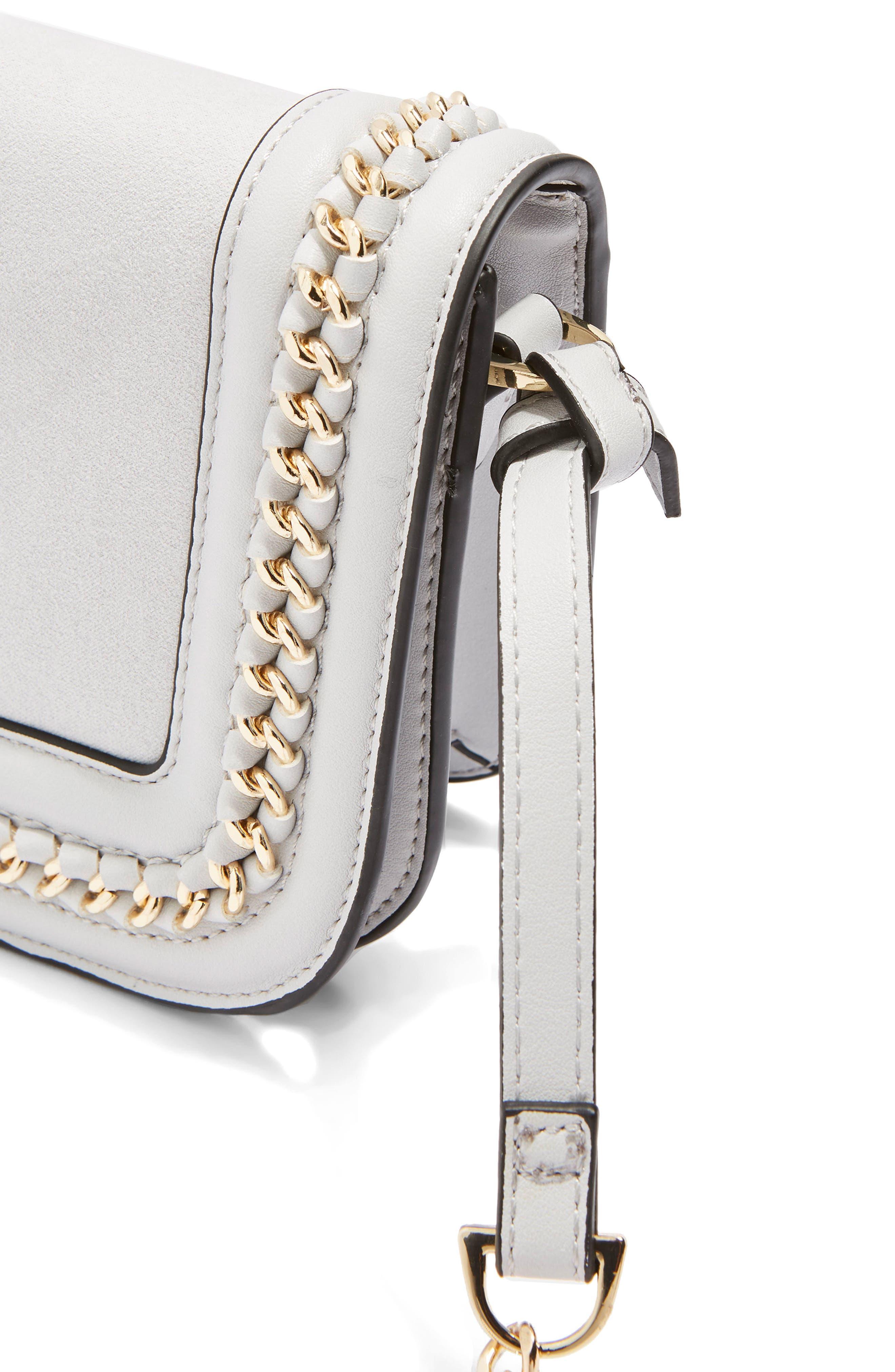 Alternate Image 4  - Topshop Carmel Chain Flap Crossbody Bag
