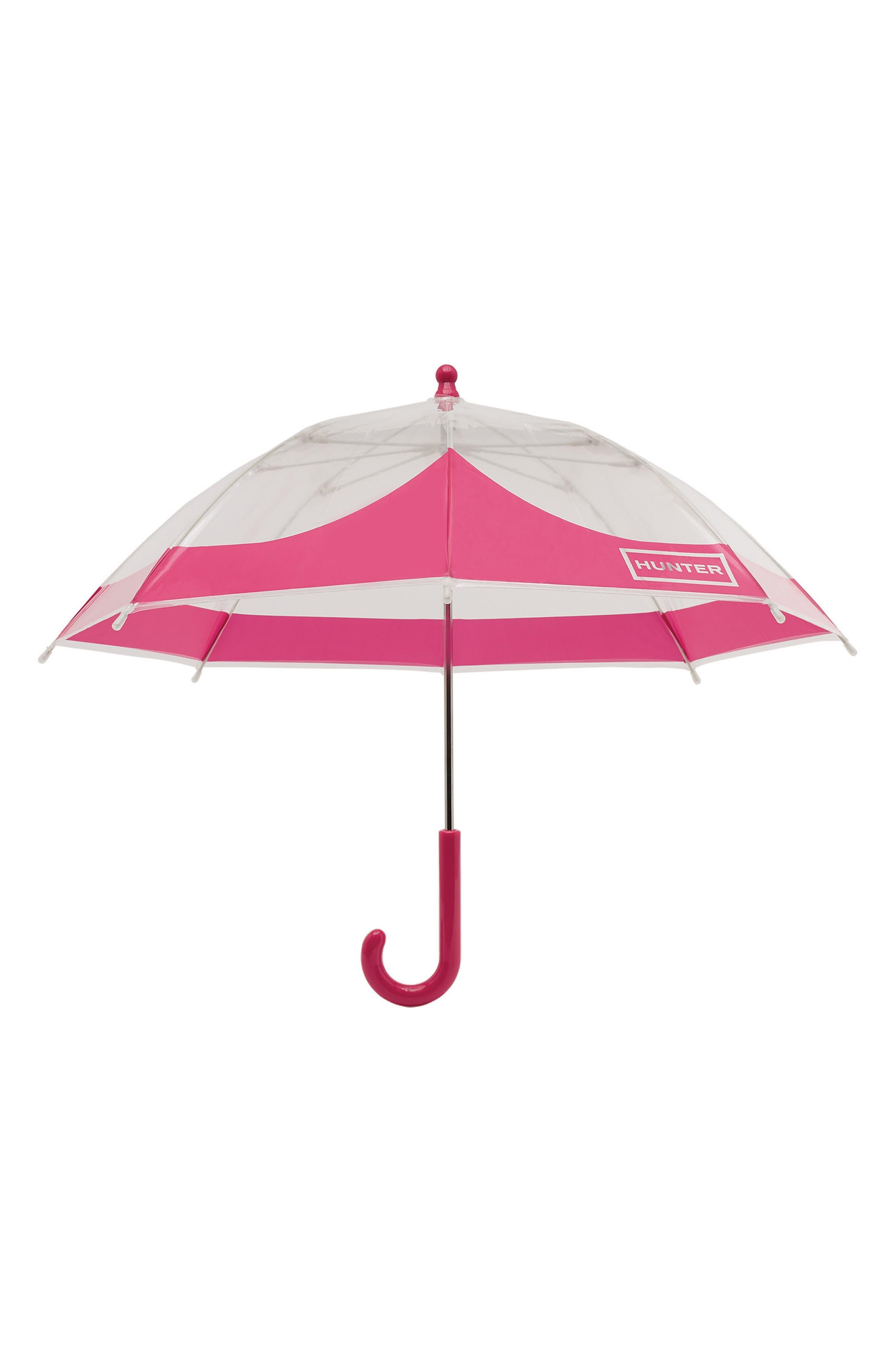 Moustache Bubble Umbrella,                         Main,                         color, Bright Pink