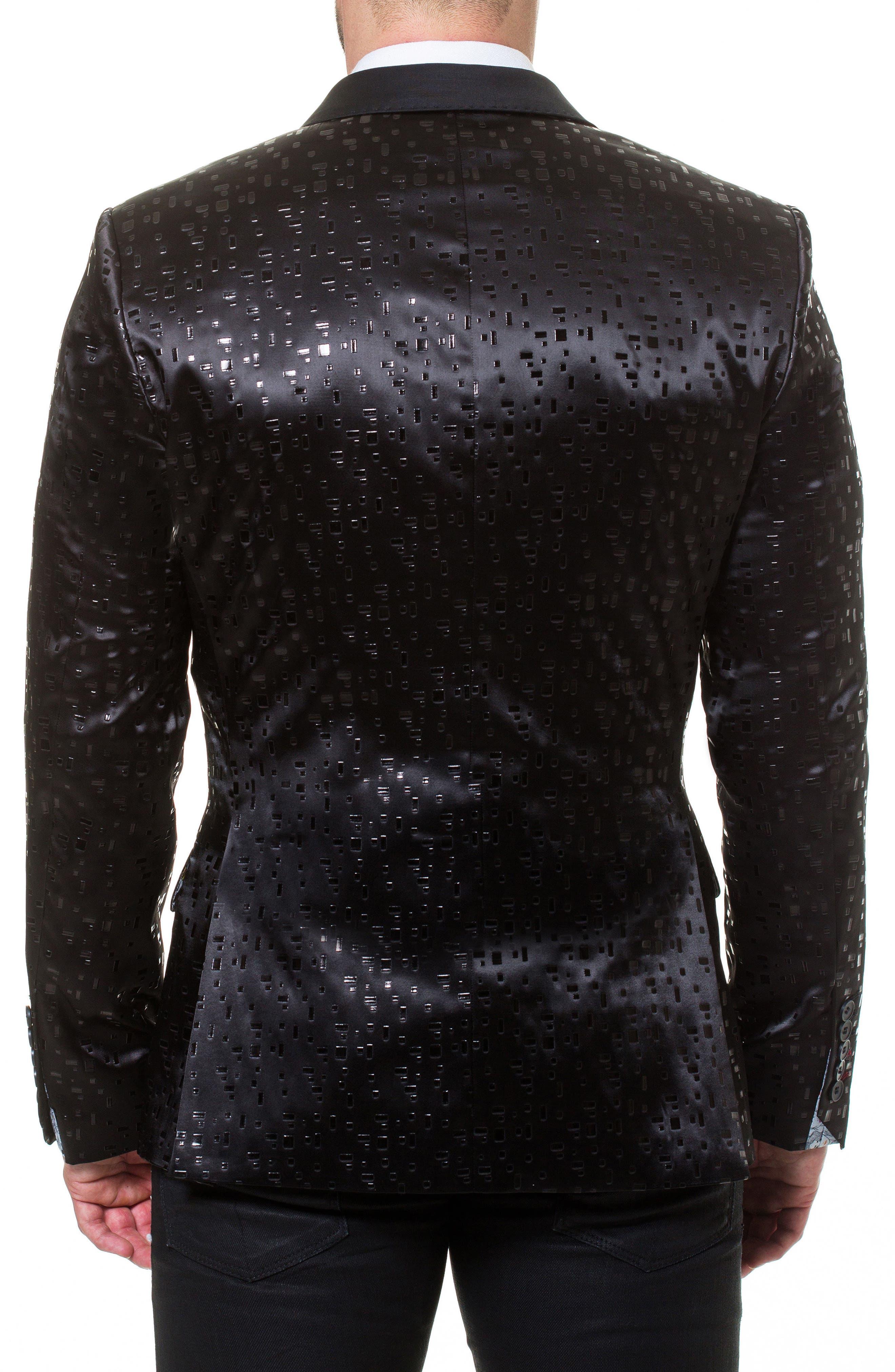 Socrate Blocks Sport Coat,                             Alternate thumbnail 2, color,                             Black