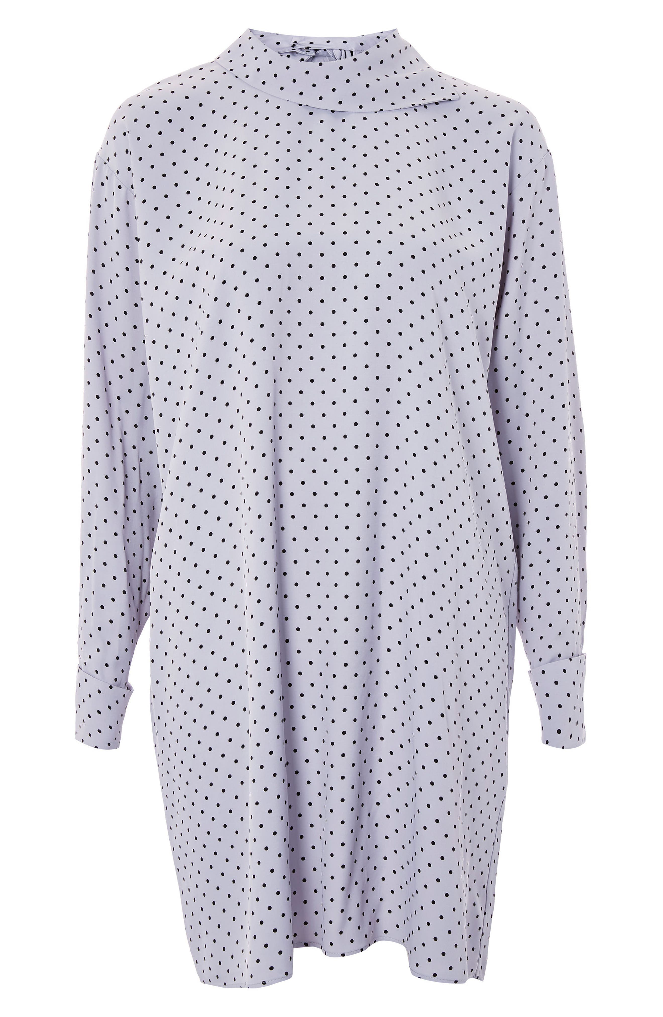 Main Image - Topshop Boutique Fold Neck Spot Shift Dress