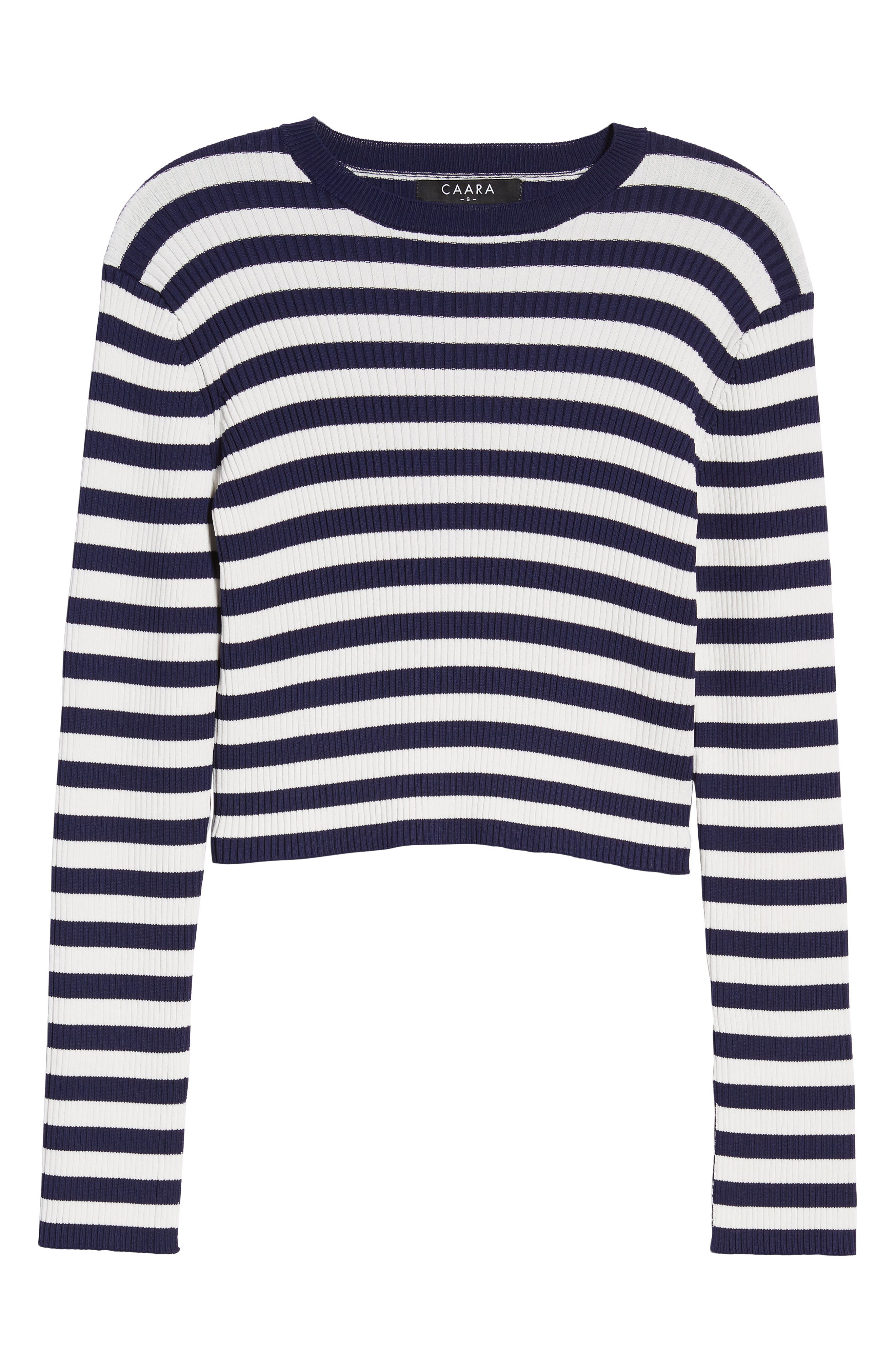 Perry Crop Top,                             Alternate thumbnail 7, color,                             Stripe