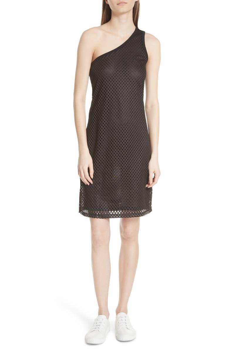 One-Shoulder Mesh Dress
