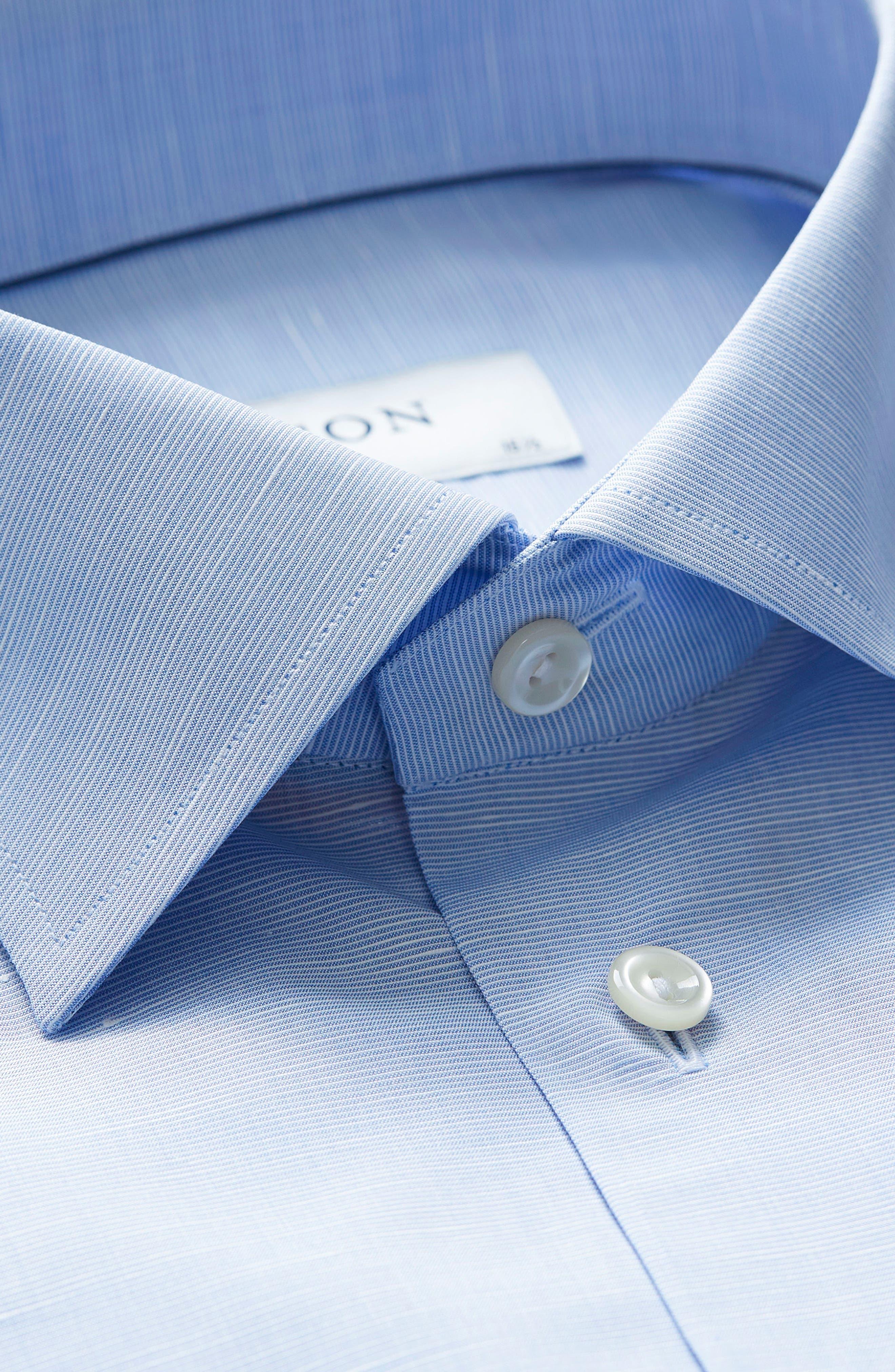 Slim Fit Solid Dress Shirt,                             Alternate thumbnail 2, color,                             Blue
