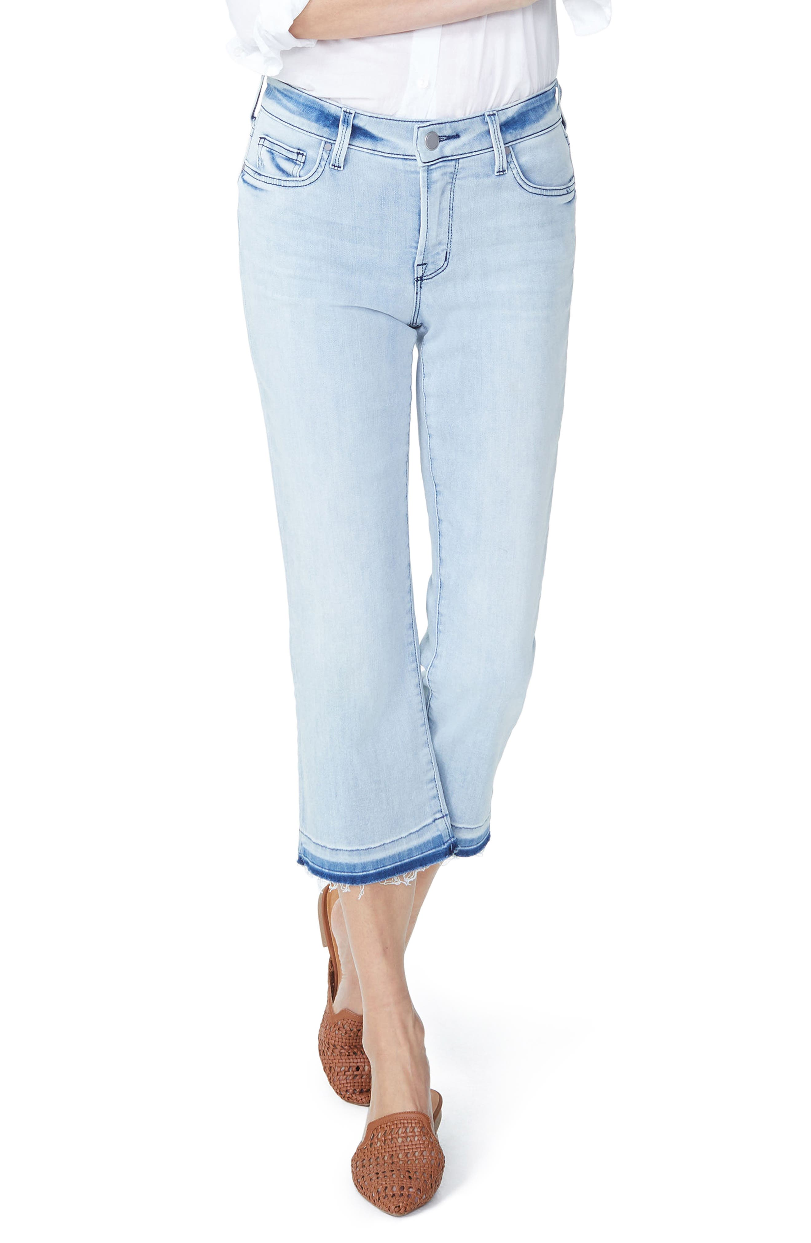 Bootcut Cropped Jeans with Released Hem,                         Main,                         color, Stillwater
