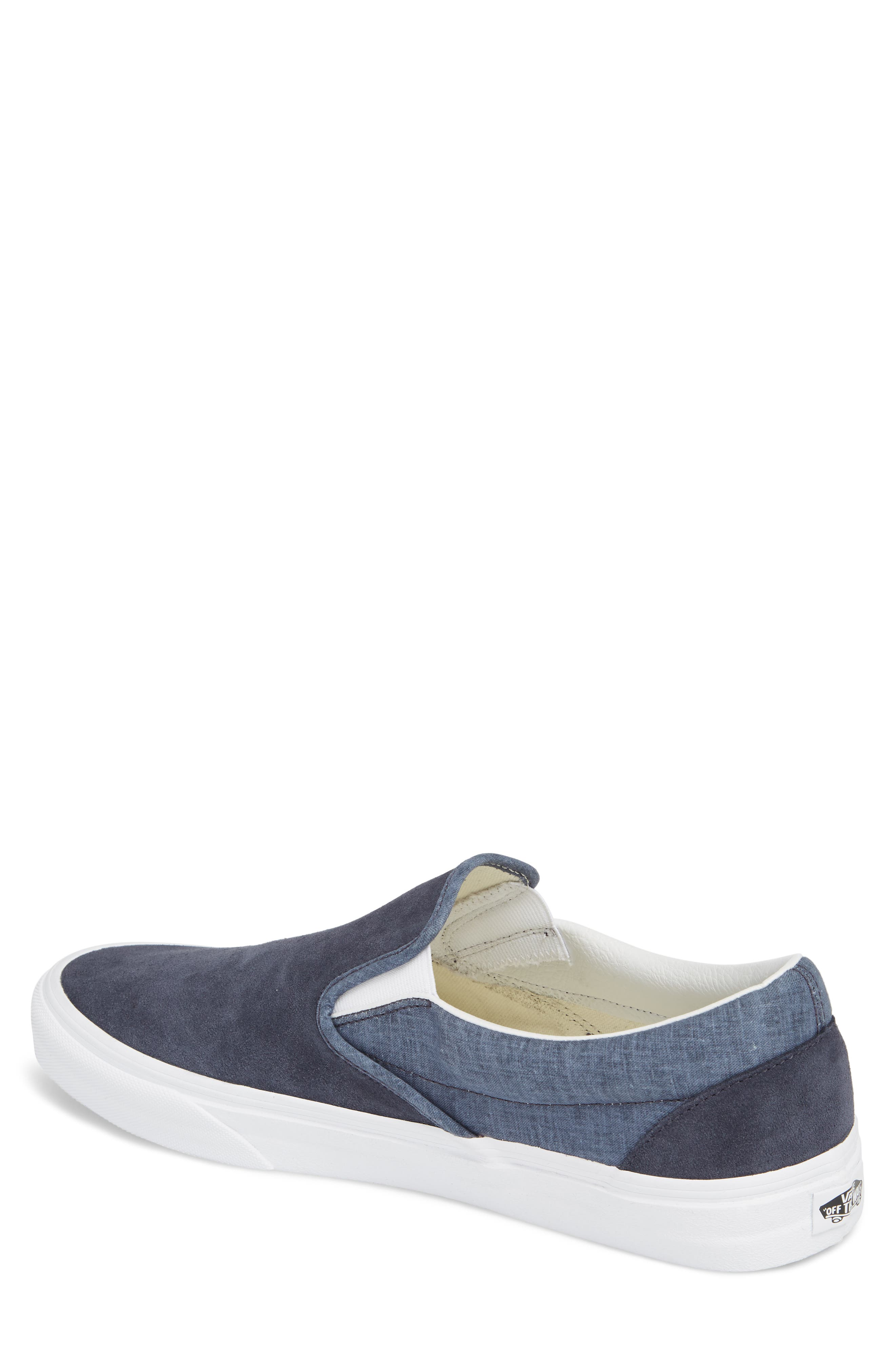 'Classic' Slip-On Sneaker,                             Alternate thumbnail 2, color,                             Parisian Night Suede