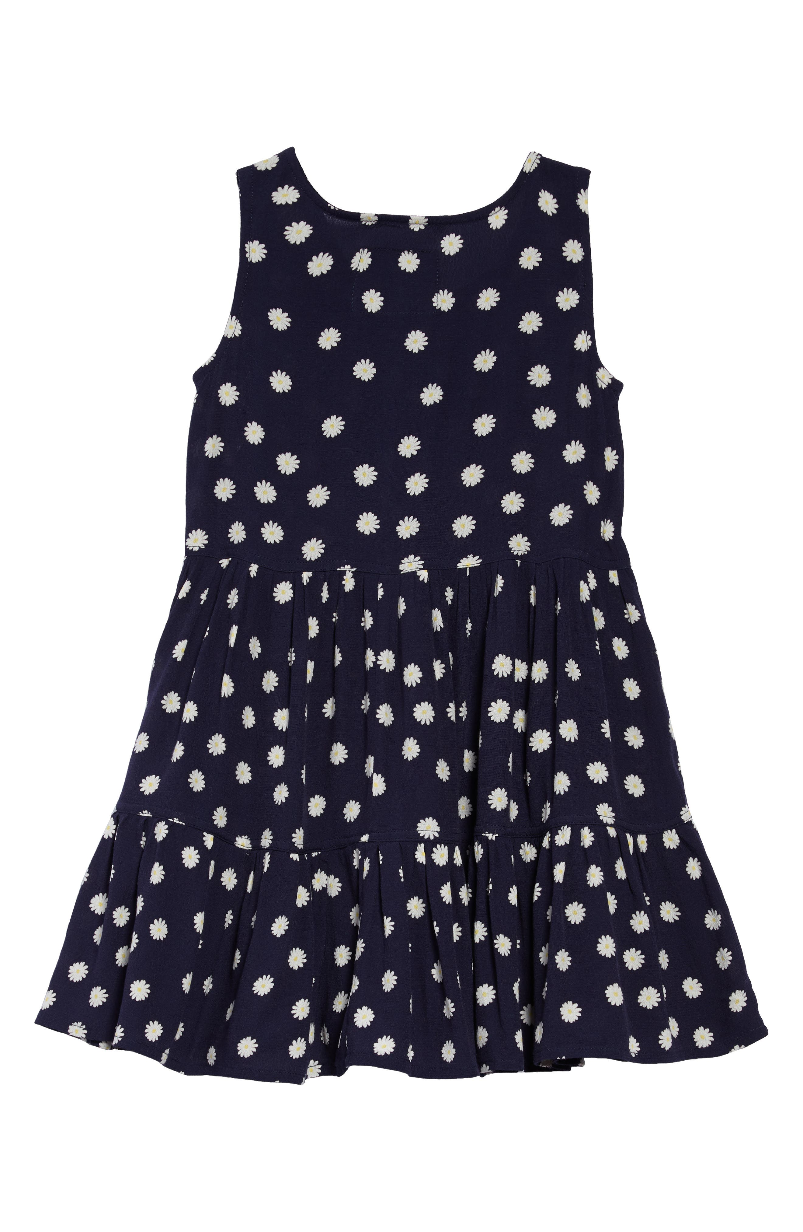 Katie Tiered Dress,                             Alternate thumbnail 2, color,                             Navy Daisies