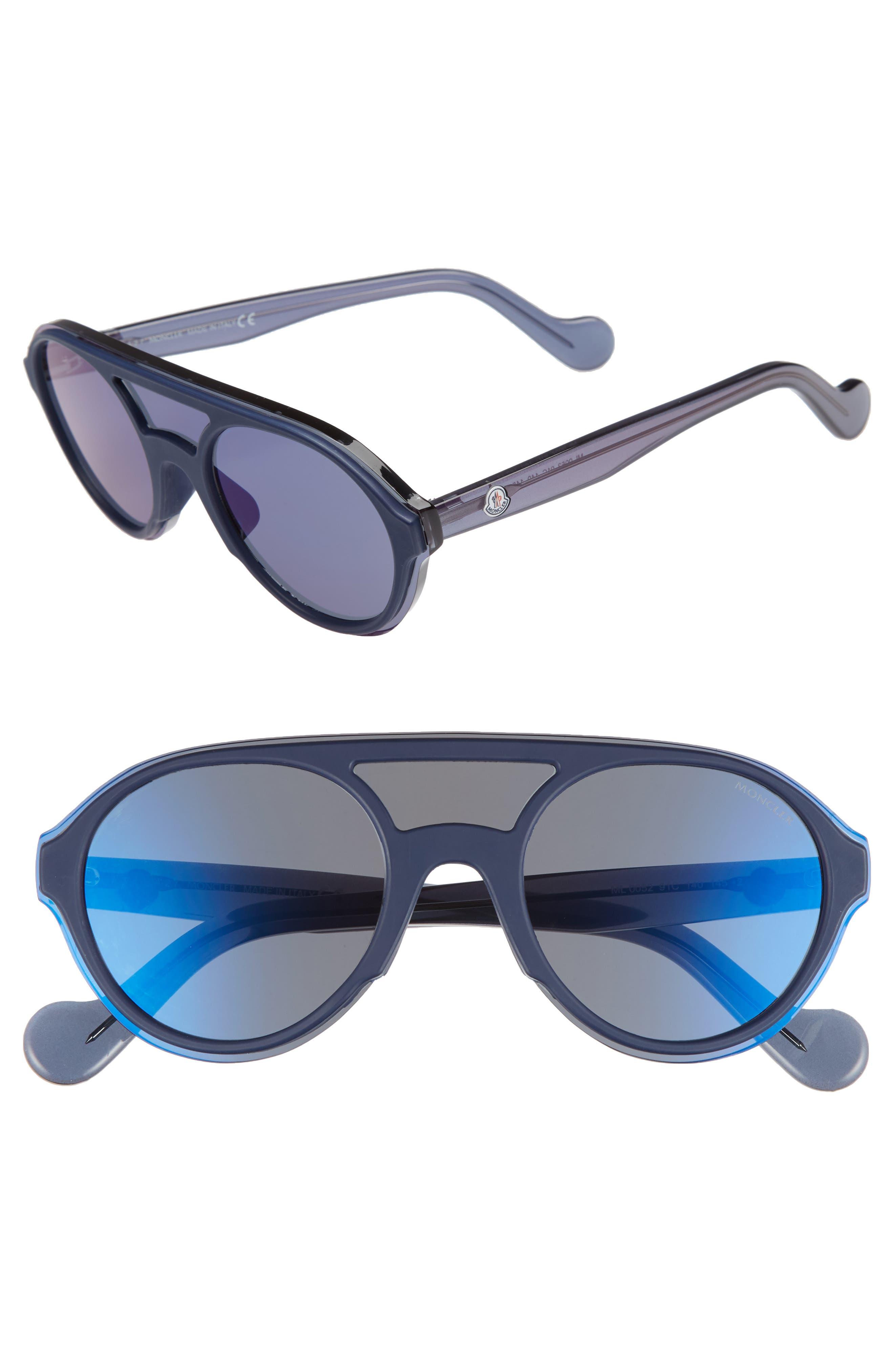 Moncler 52mm Shield Sunglasses