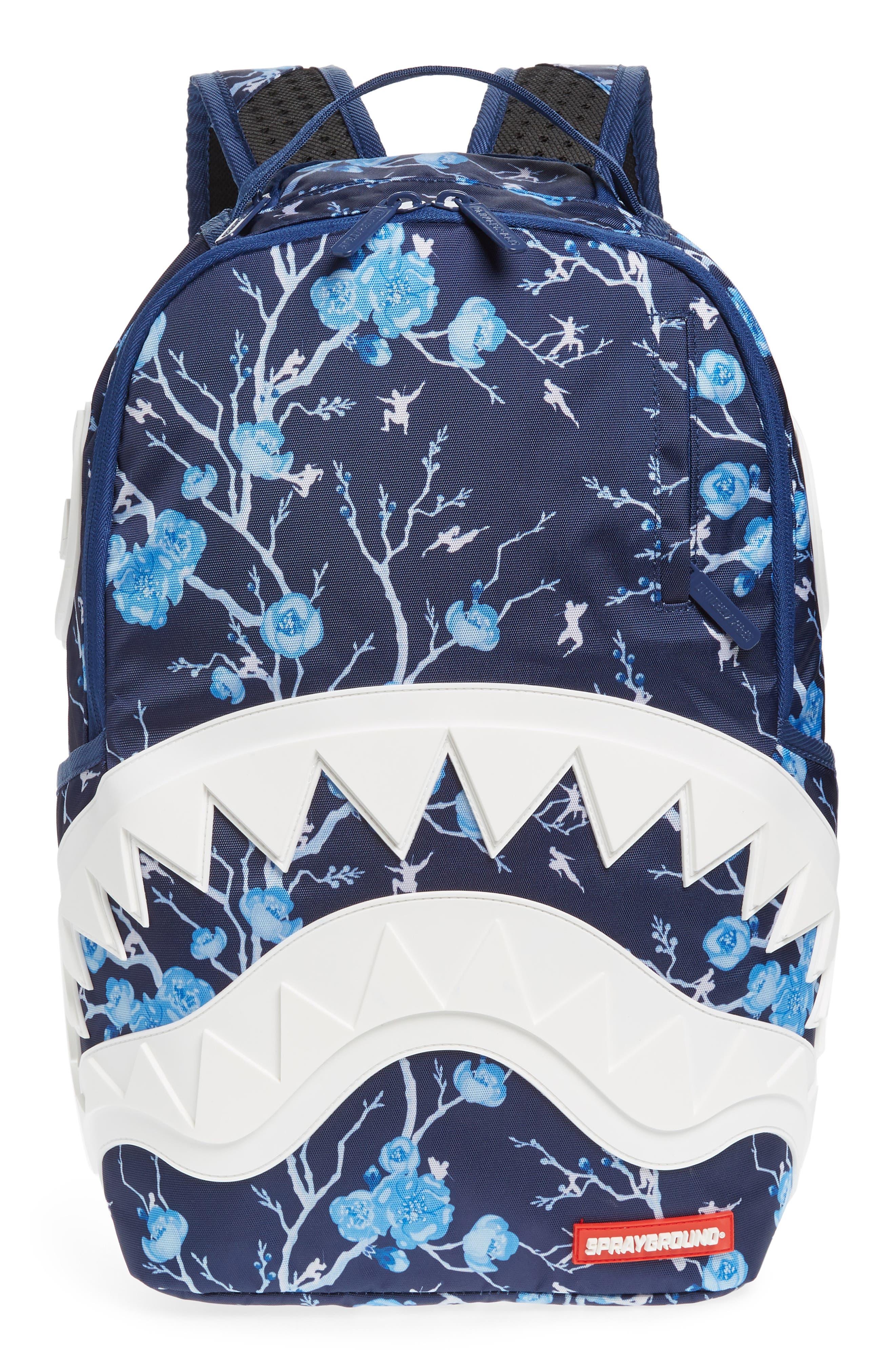 Sprayground Cherry Blossom Rubber Shark Backpack