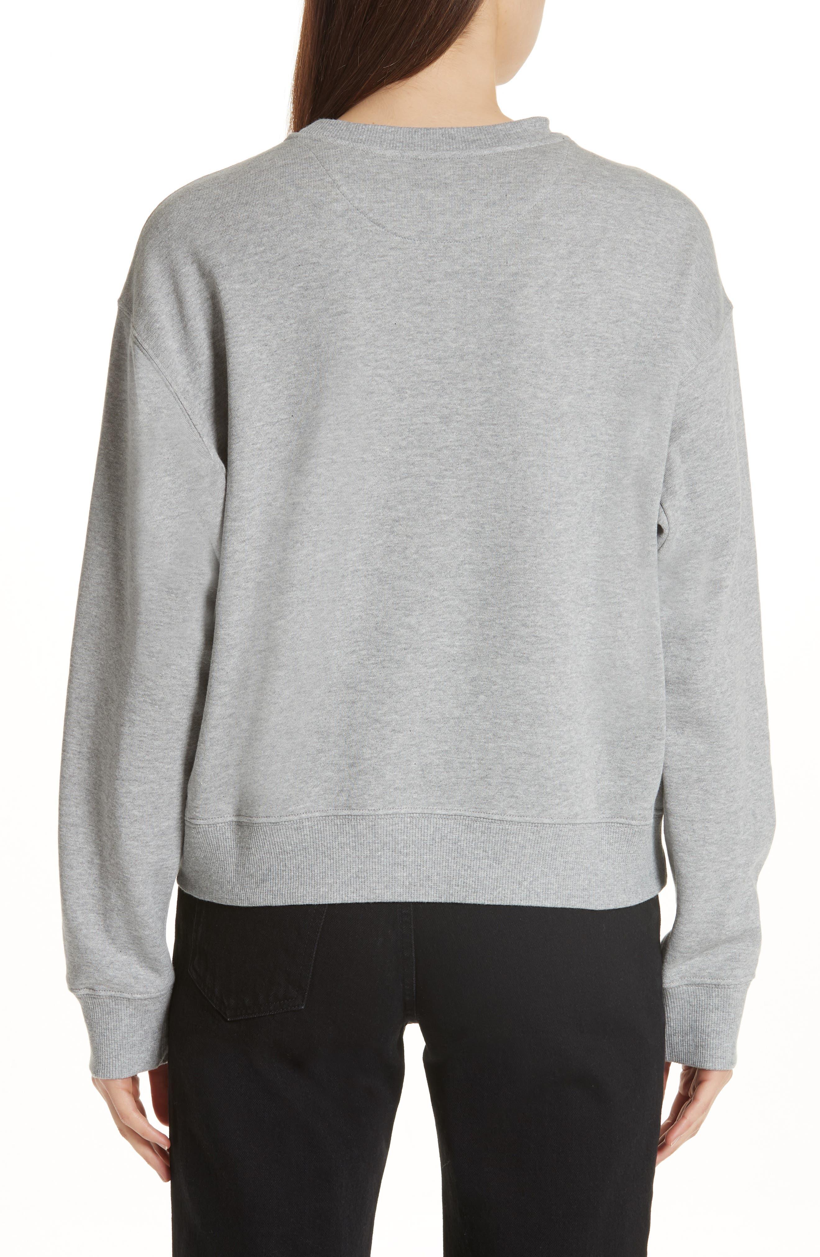 Brooke Shields Patch Sweatshirt,                             Alternate thumbnail 2, color,                             Grey