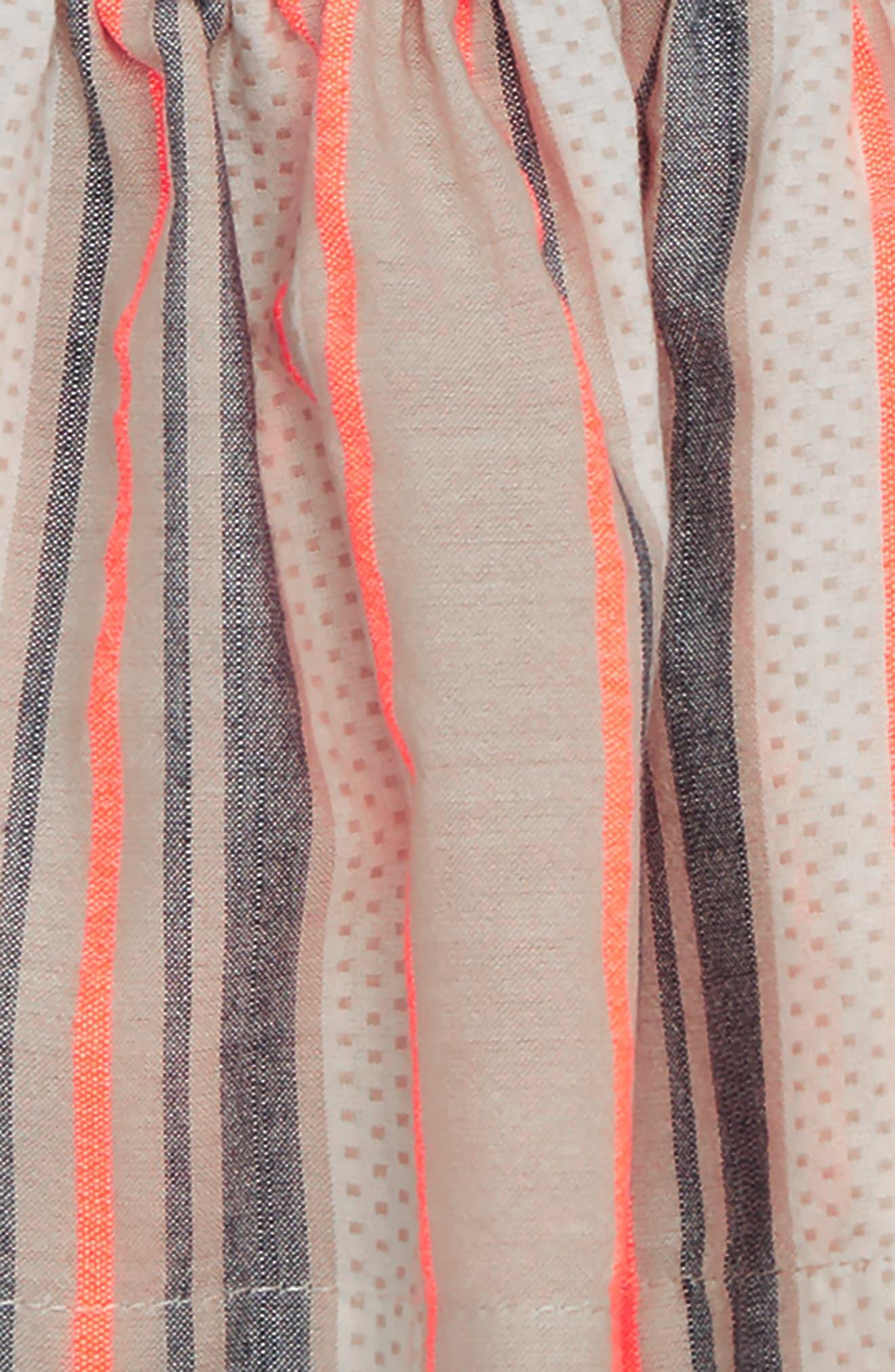 Woven Stripe Swing Top & Bubble Shorts Set,                             Alternate thumbnail 2, color,                             Pink Cloud Multi Stripe