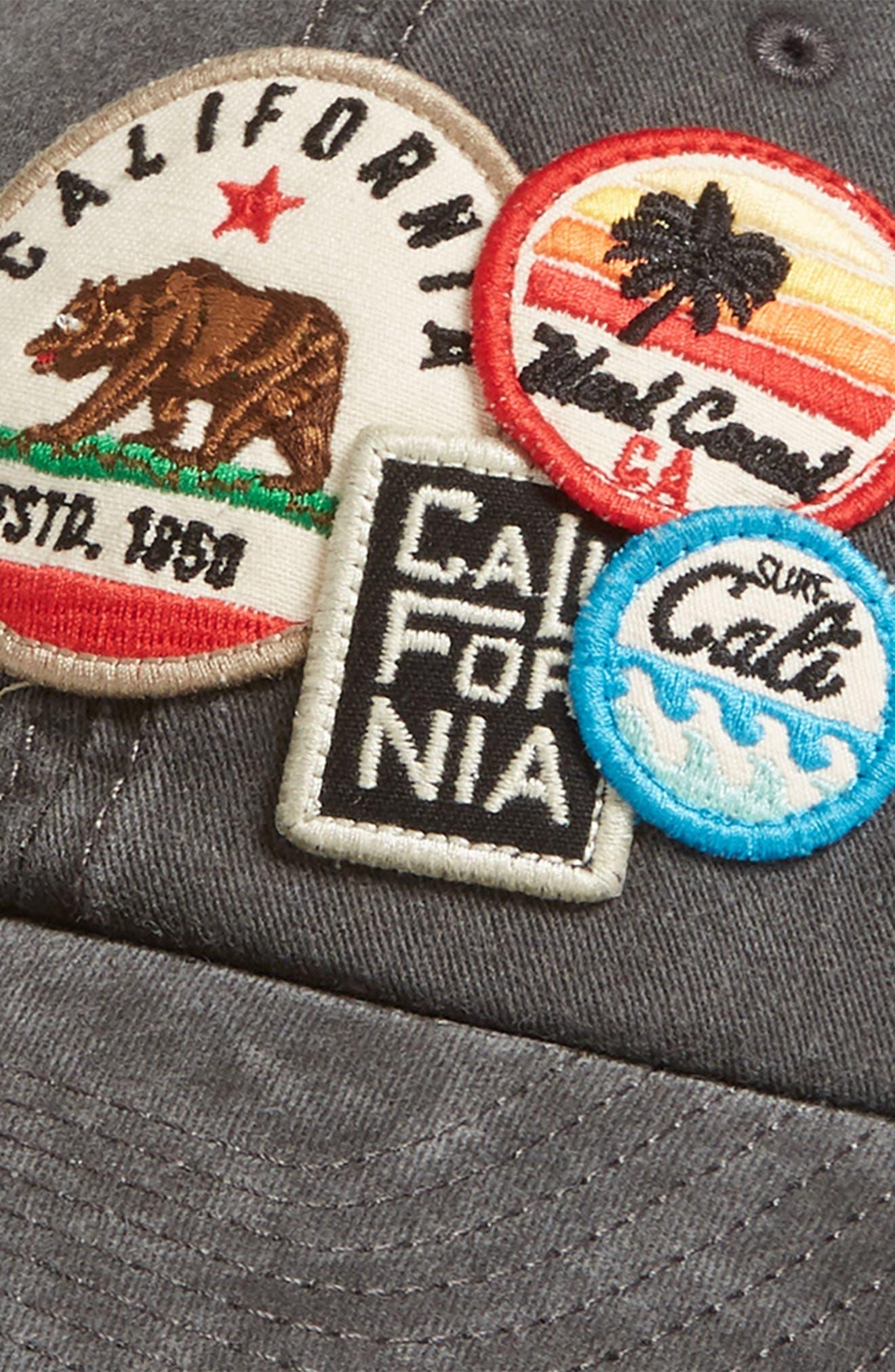 Iconic California Ball Cap,                             Alternate thumbnail 2, color,                             Black