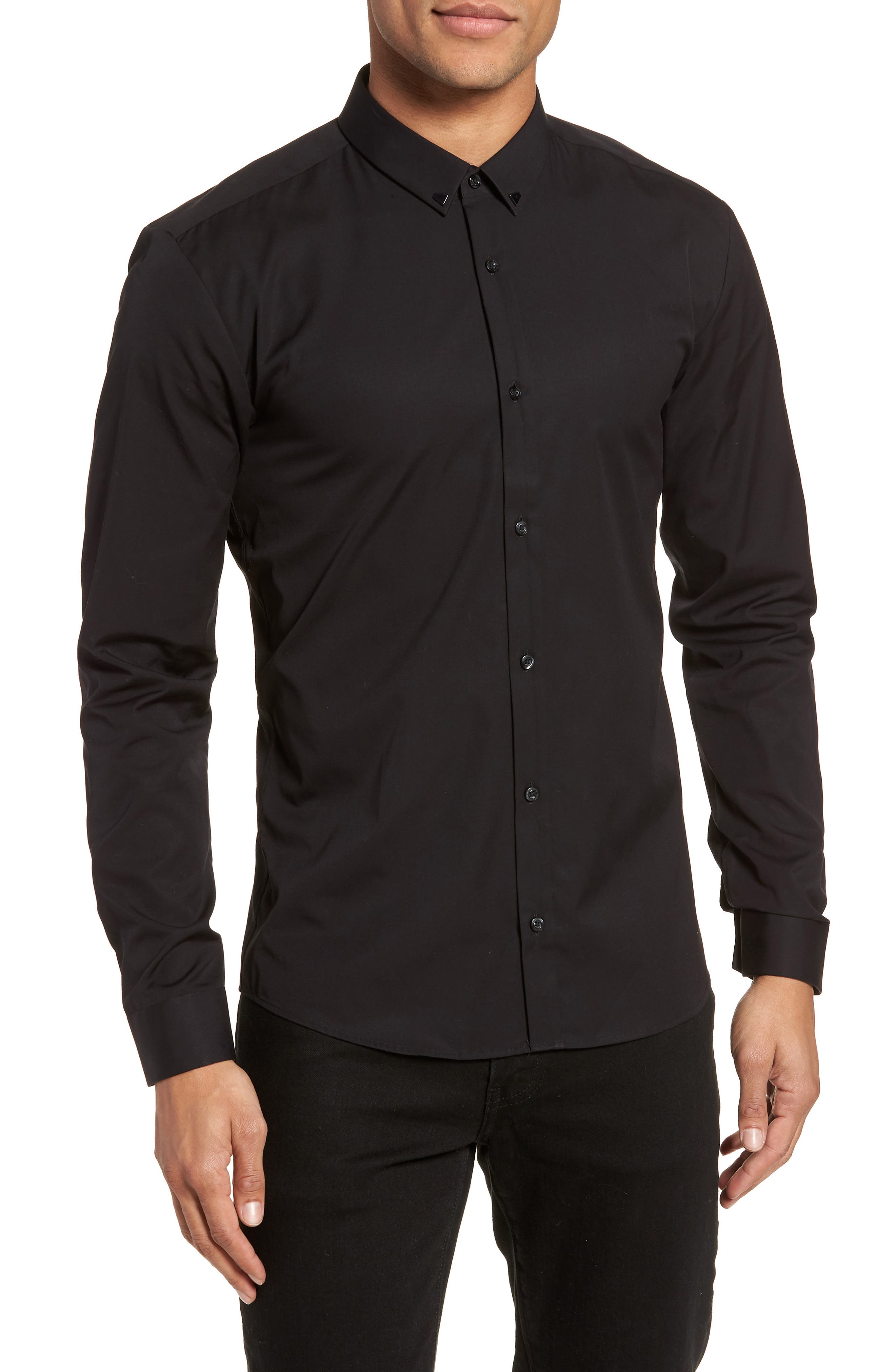 Main Image - HUGO Ero Slim Fit Solid Cotton Sport Shirt
