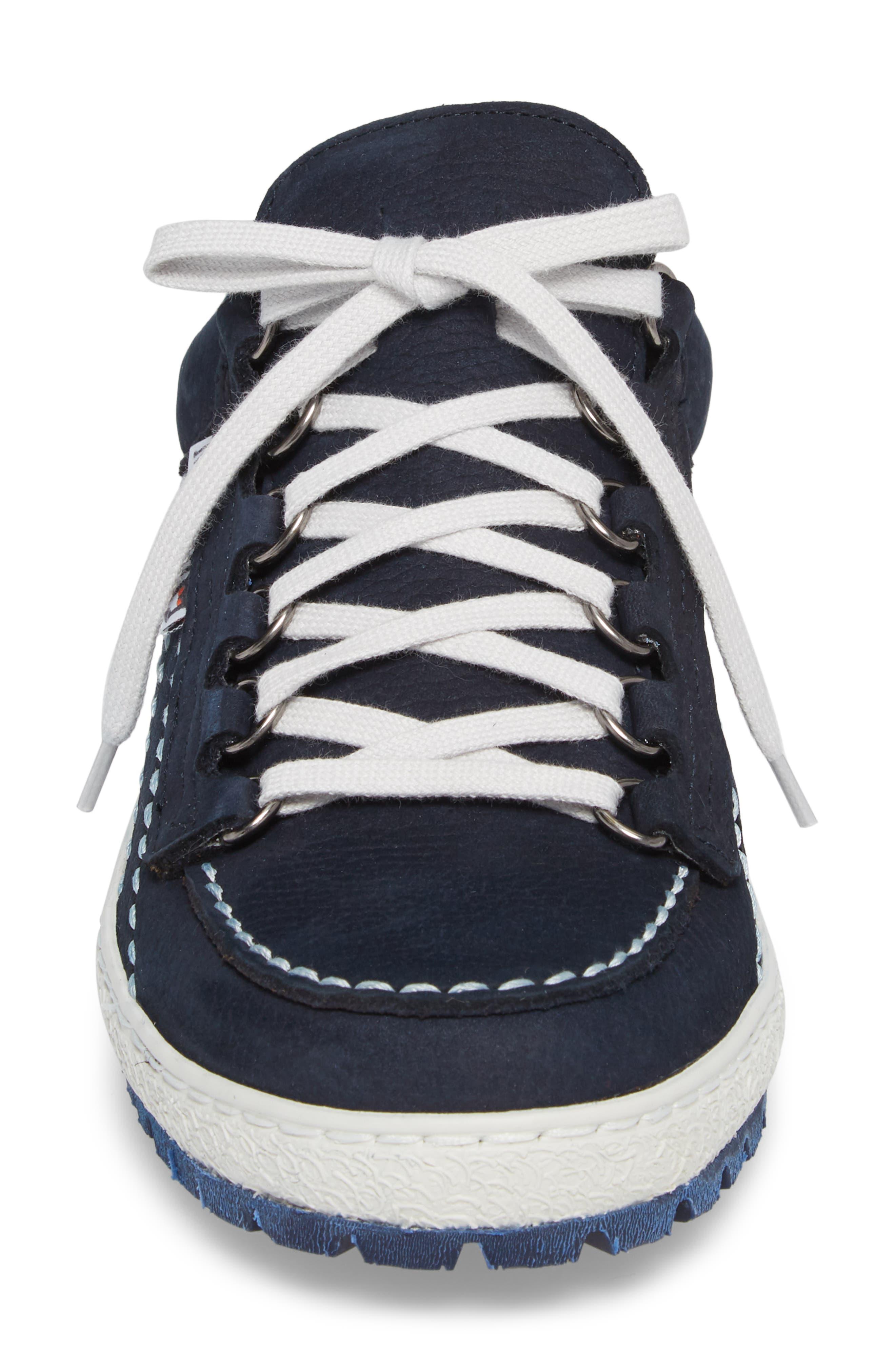 Rainbow Sneaker,                             Alternate thumbnail 4, color,                             Navy