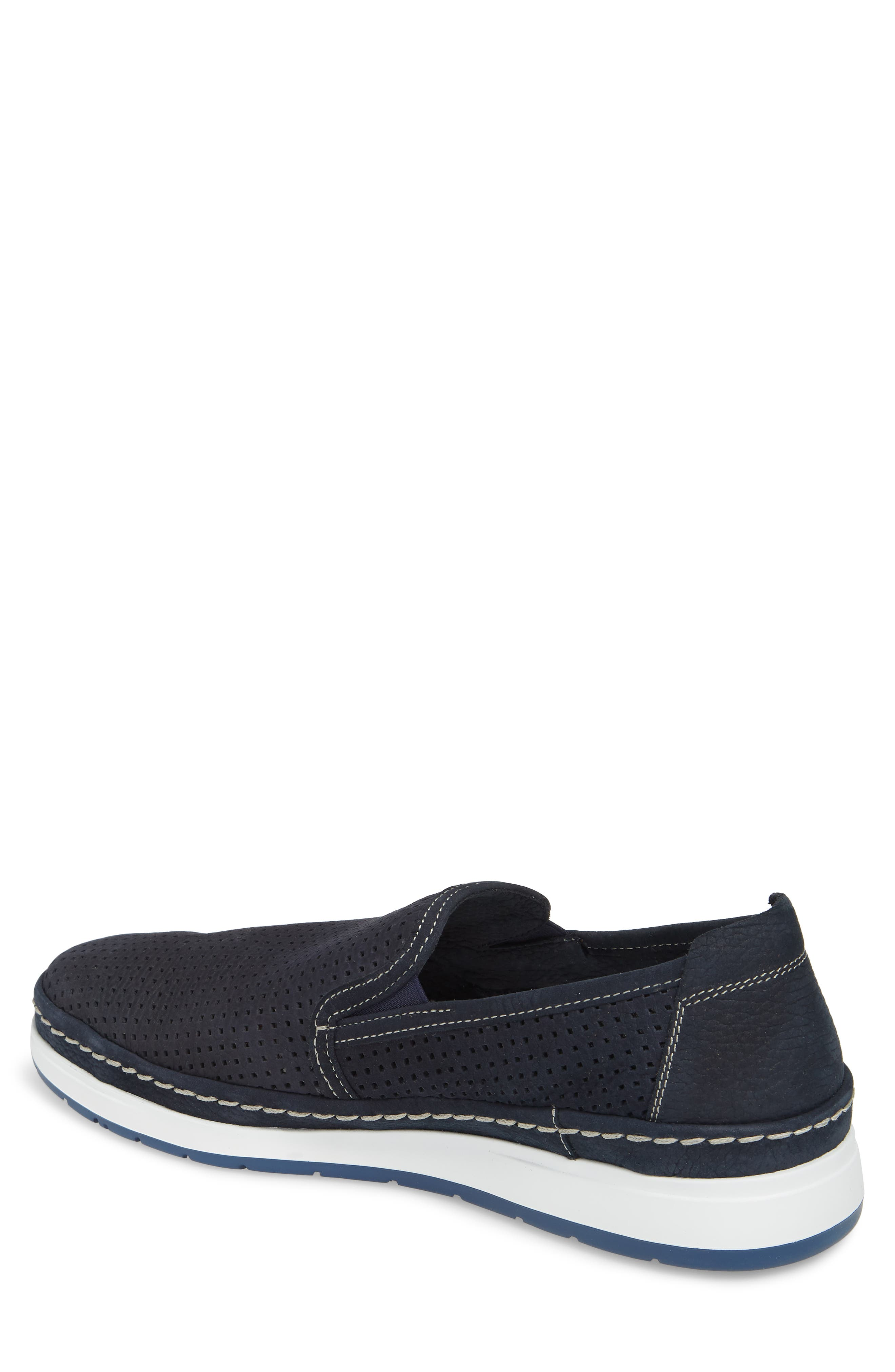 Hadrian Perforated Slip-On,                             Alternate thumbnail 2, color,                             Navy