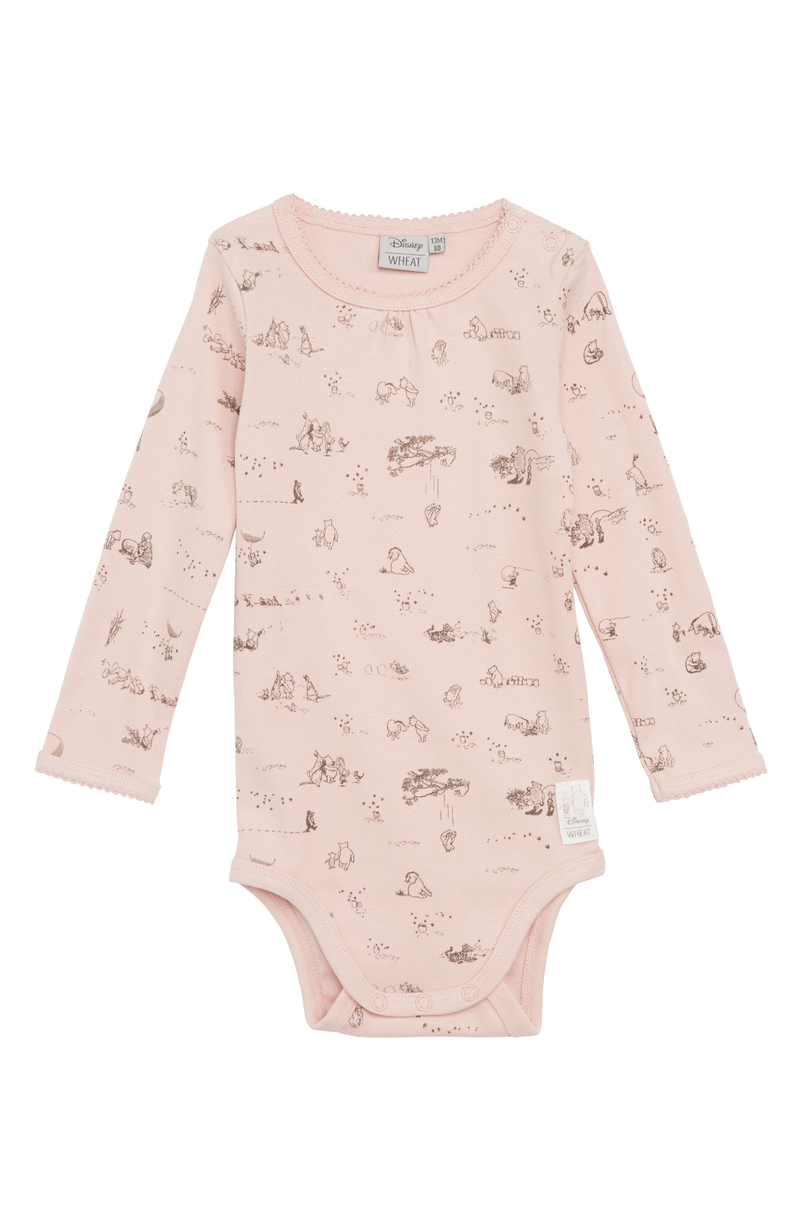 Wheat x Disney® Winnie the Pooh Organic Cotton Bodysuit (Baby Girls & Toddler Girls)