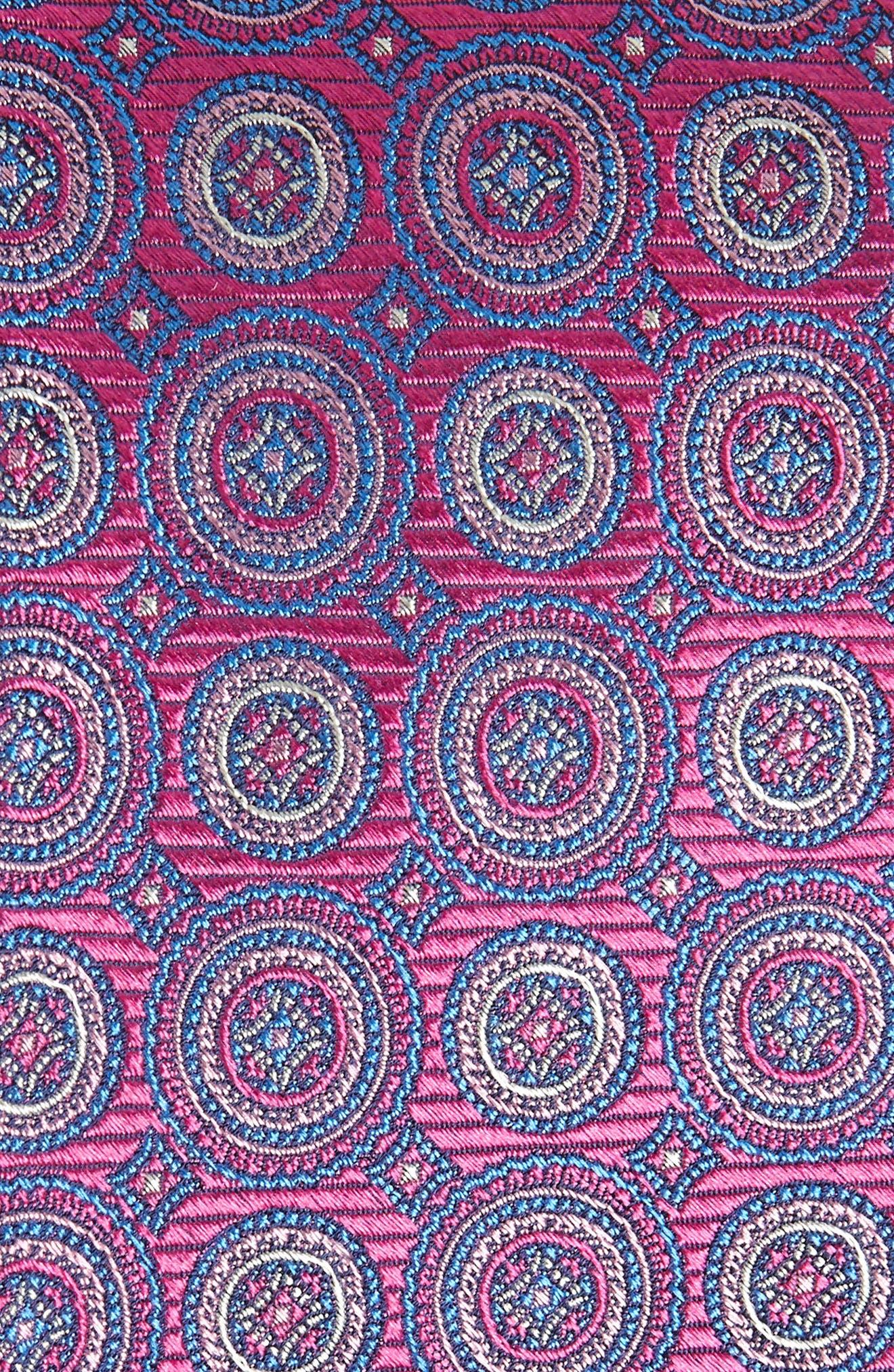 Santa Lucia Circles Silk Tie,                             Alternate thumbnail 2, color,                             Red