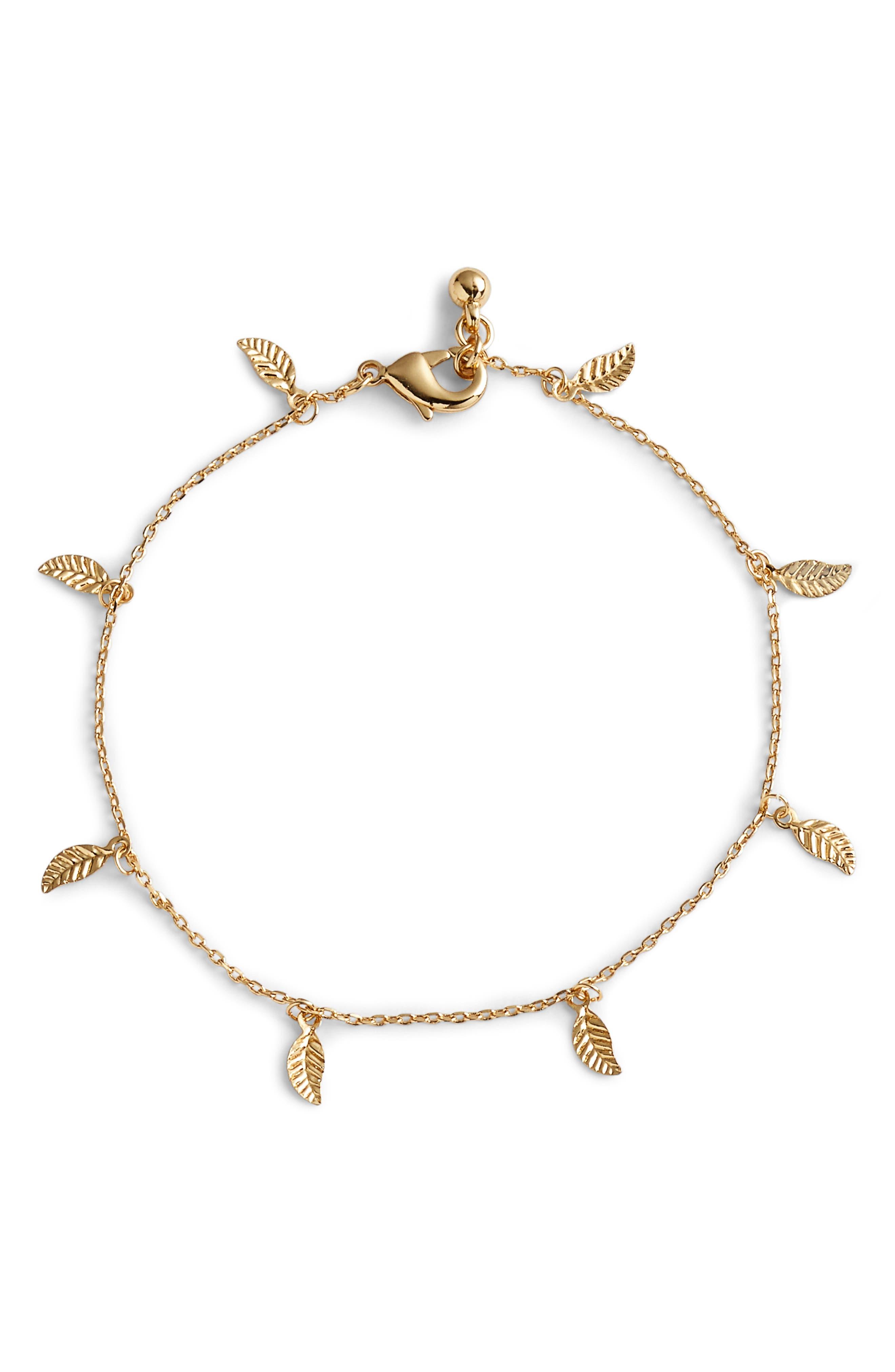 Zera Anklet,                         Main,                         color, Gold