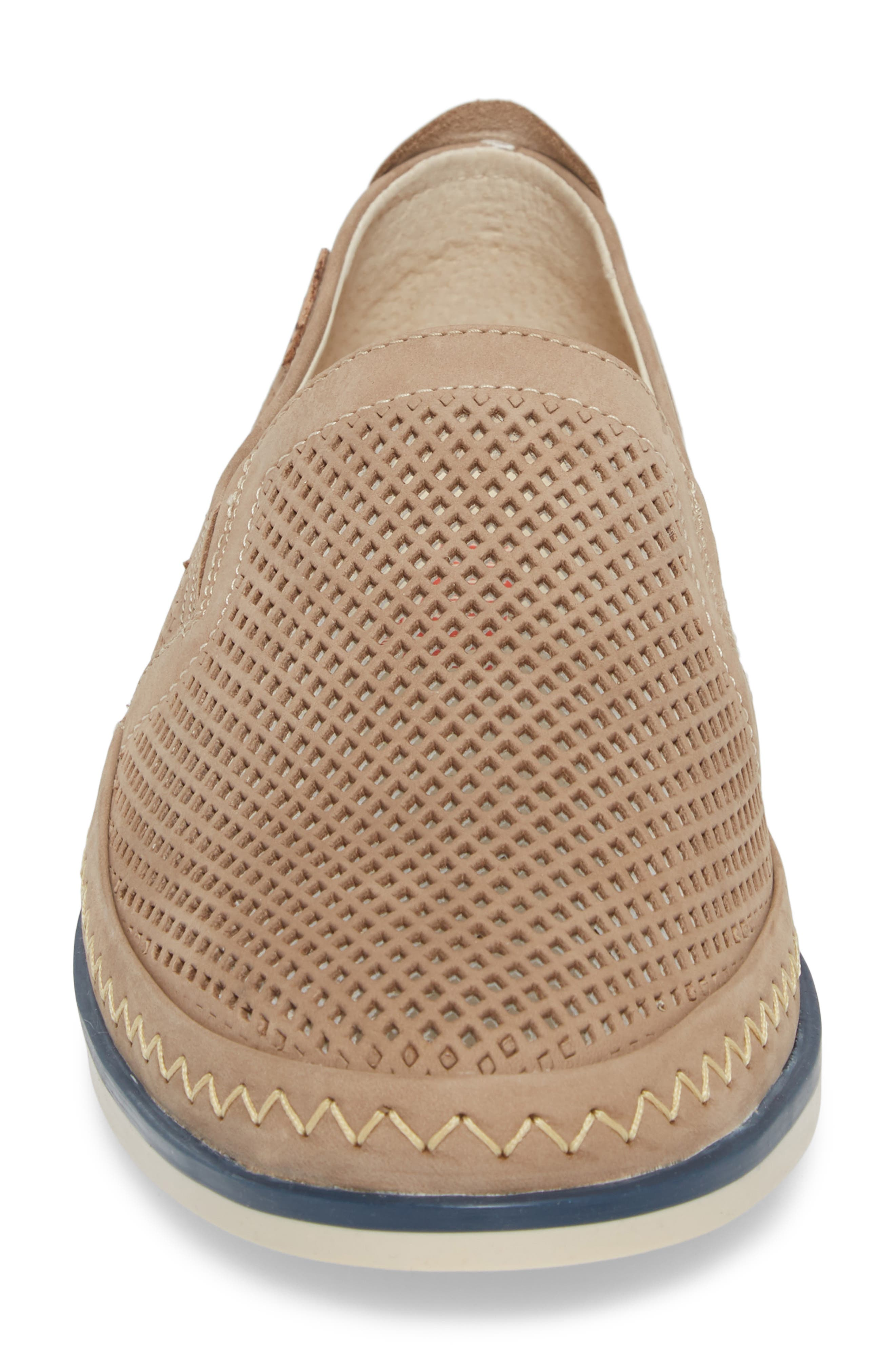 Linares Slip-On Loafer,                             Alternate thumbnail 4, color,                             Piedra Leather