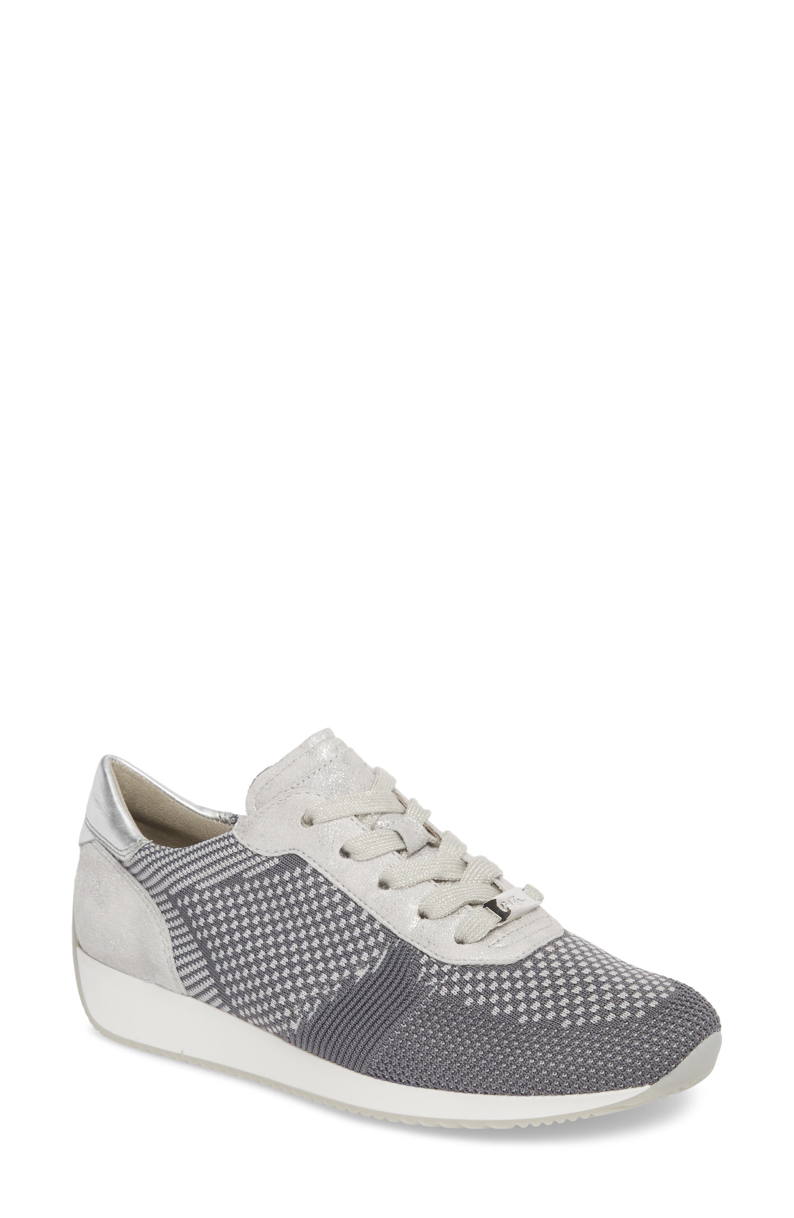 Lilly Sneaker,                         Main,                         color, Grey Fabric