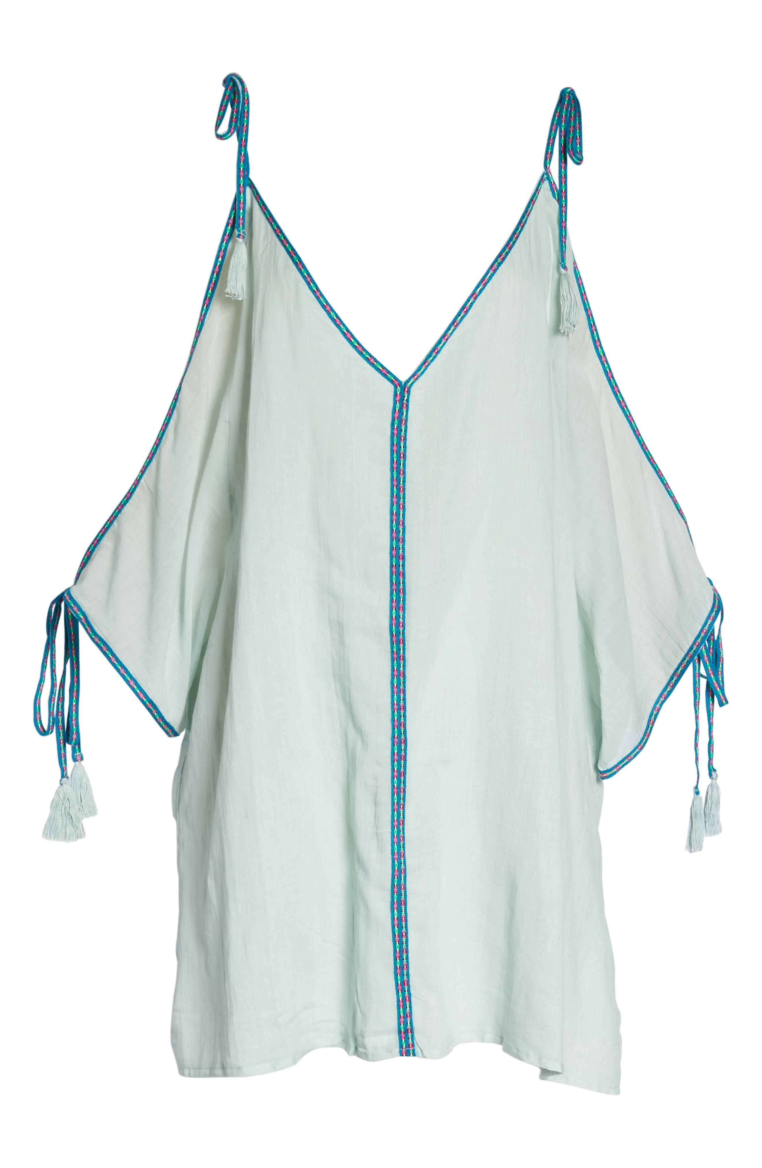 Mini Ottoman Cover-Up Dress,                             Alternate thumbnail 6, color,                             Pale Blue