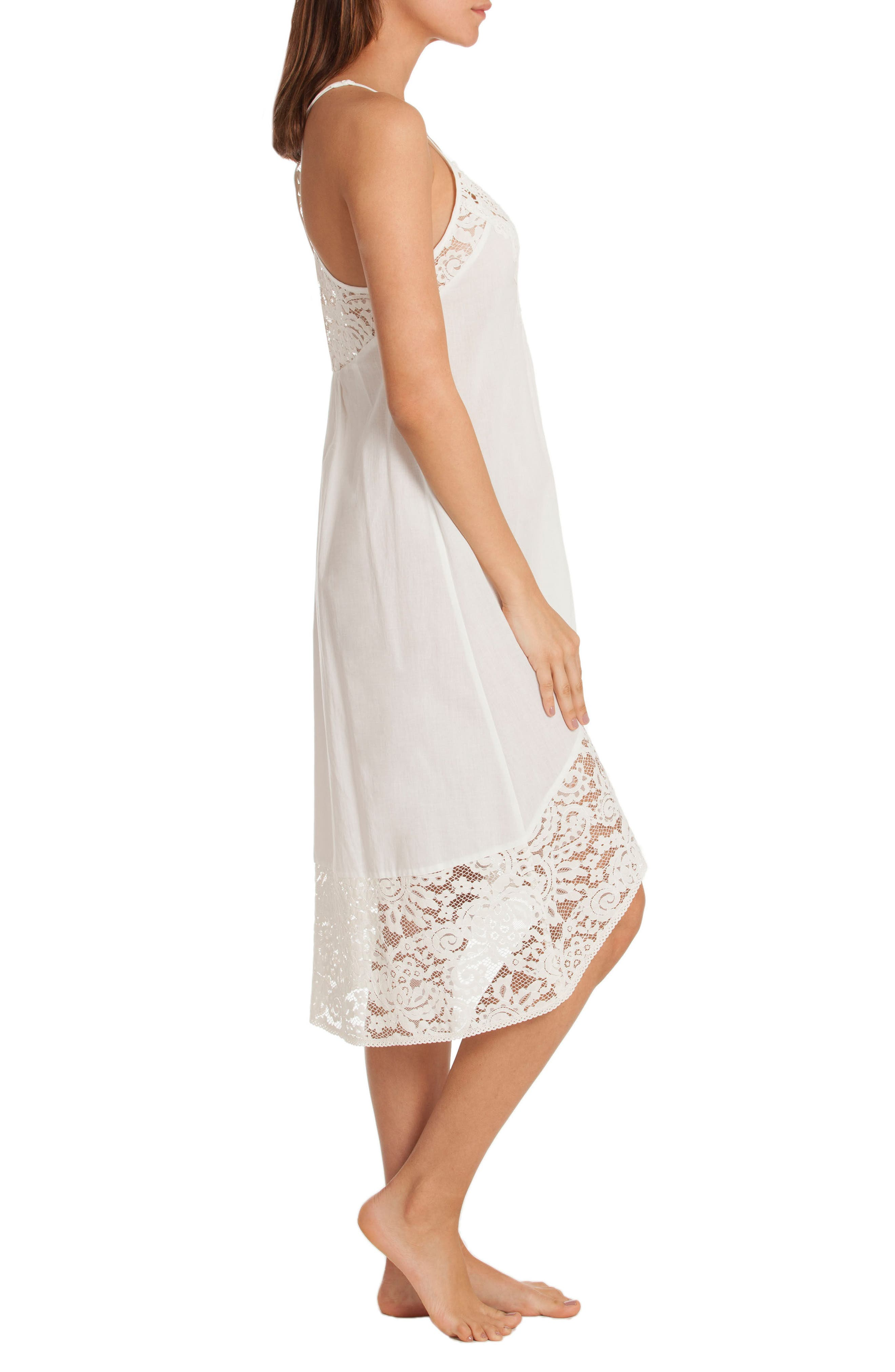 Nightgown,                             Alternate thumbnail 3, color,                             Ivory/ Beige