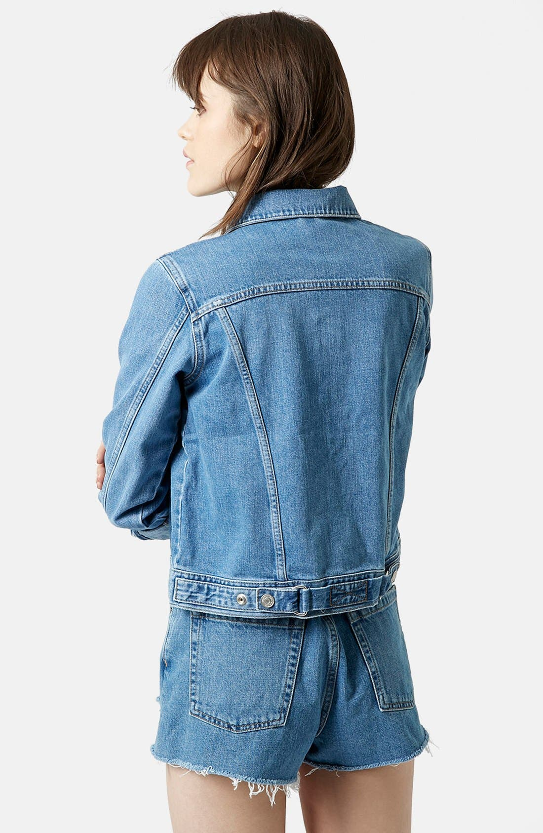 Alternate Image 2  - Topshop Moto 'Tilda' Denim Jacket