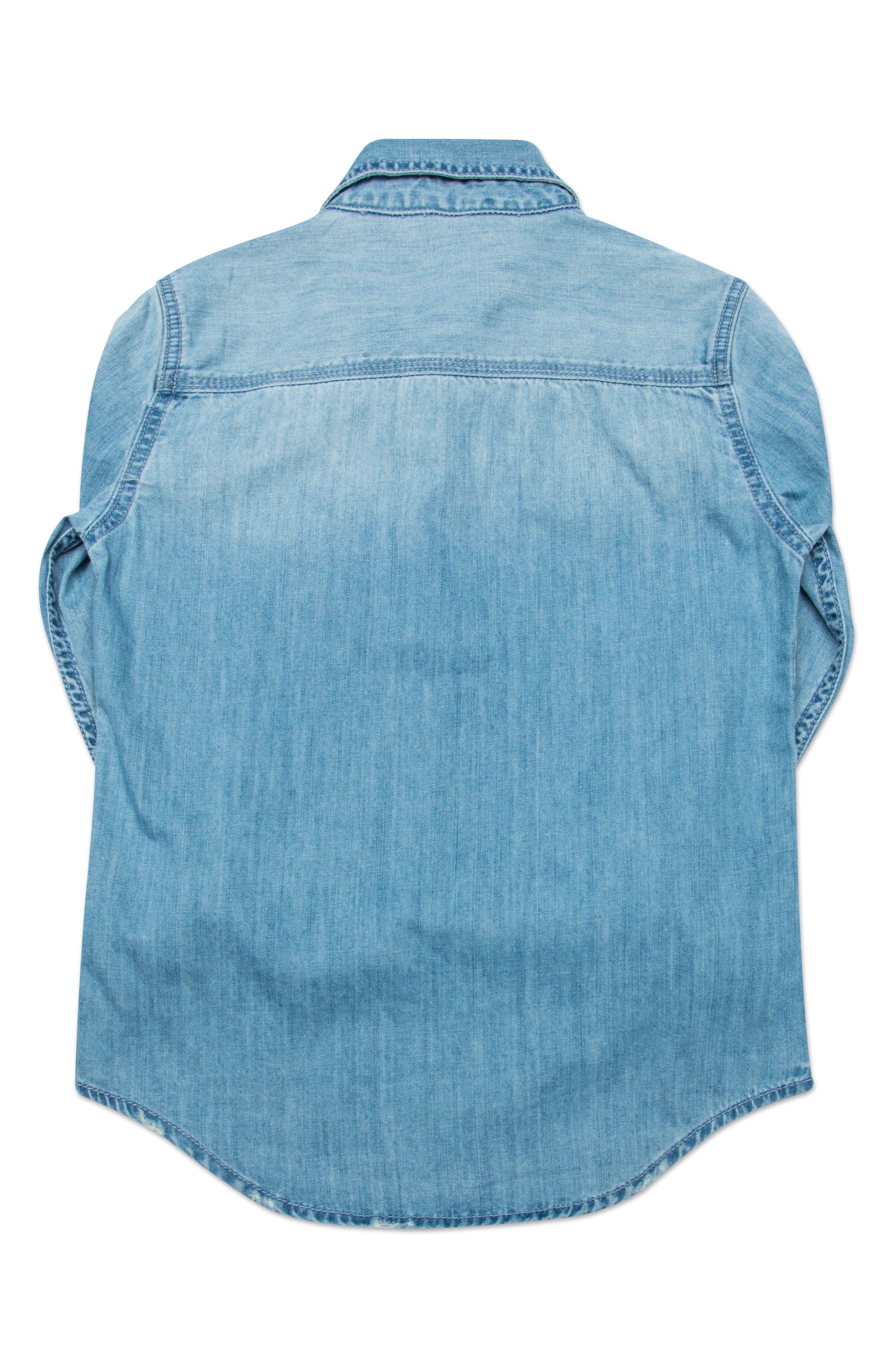 Bryon Denim Shirt,                             Alternate thumbnail 2, color,                             Ice