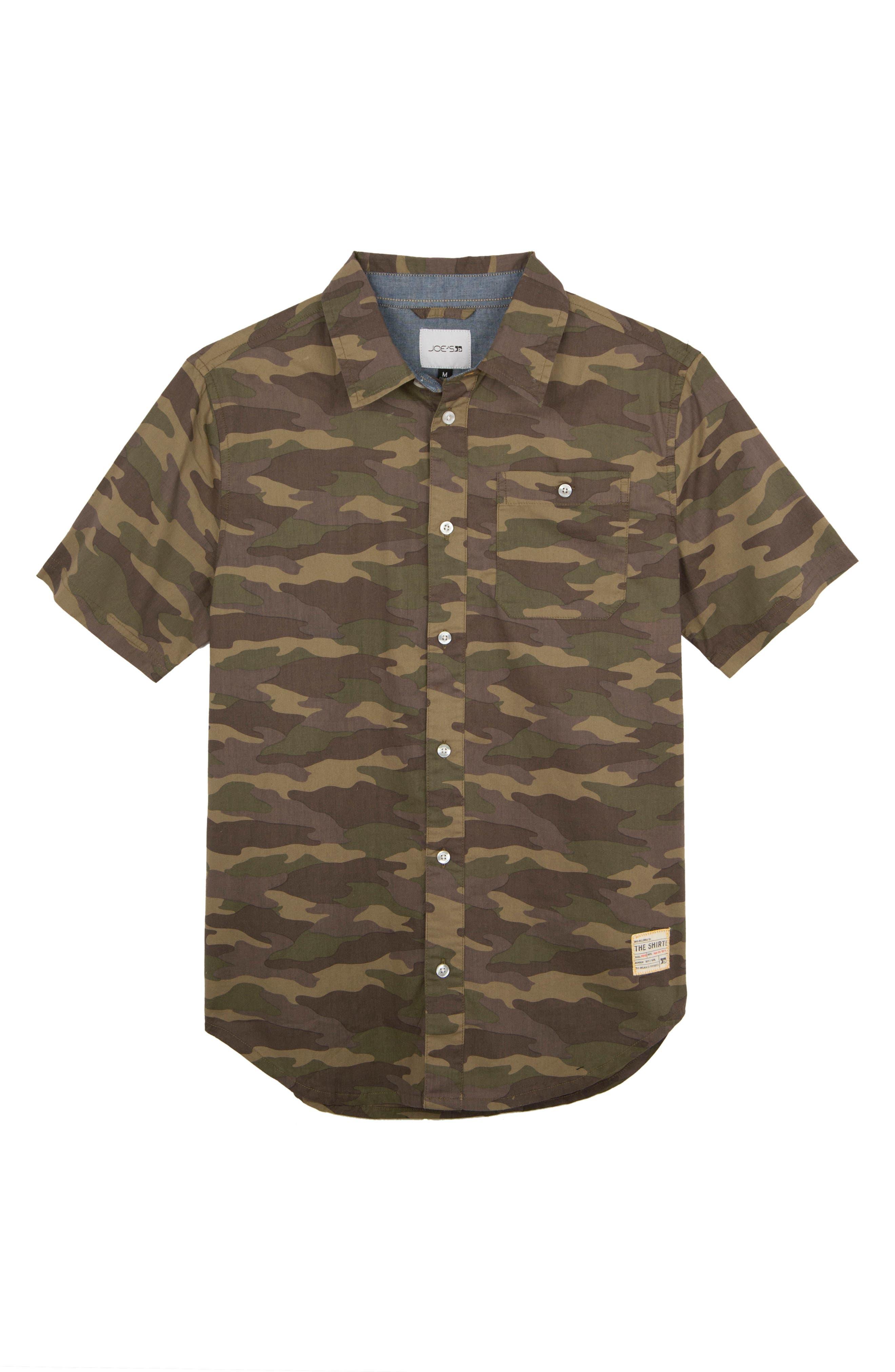 Alternate Image 1 Selected - Joe's Aiden Camo Print Shirt (Big Boys)