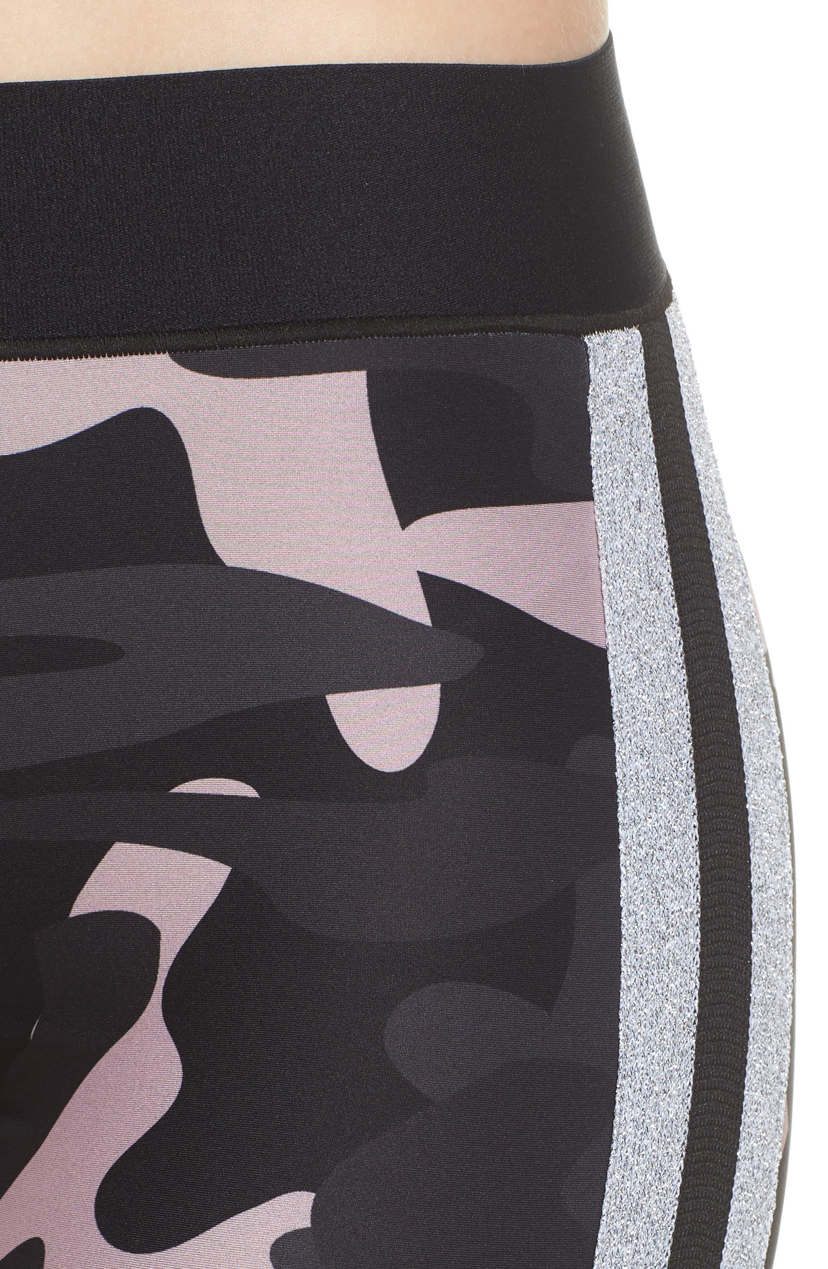Ultra Camo Collegiate Leggings,                             Alternate thumbnail 4, color,                             Blush/ Silver
