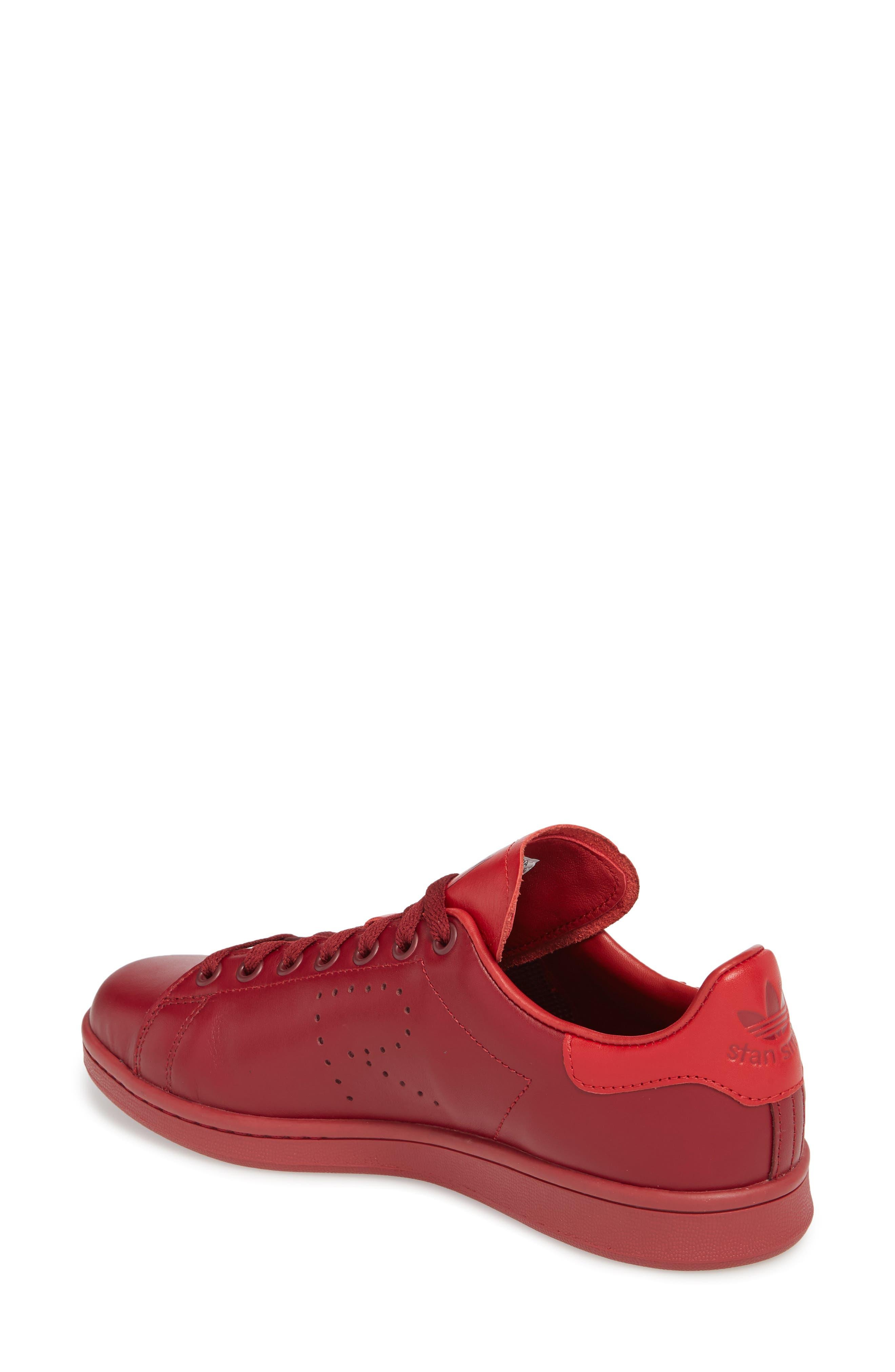 Stan Smith Sneaker,                             Alternate thumbnail 2, color,                             Burgundy/ Power Red/ Burgundy