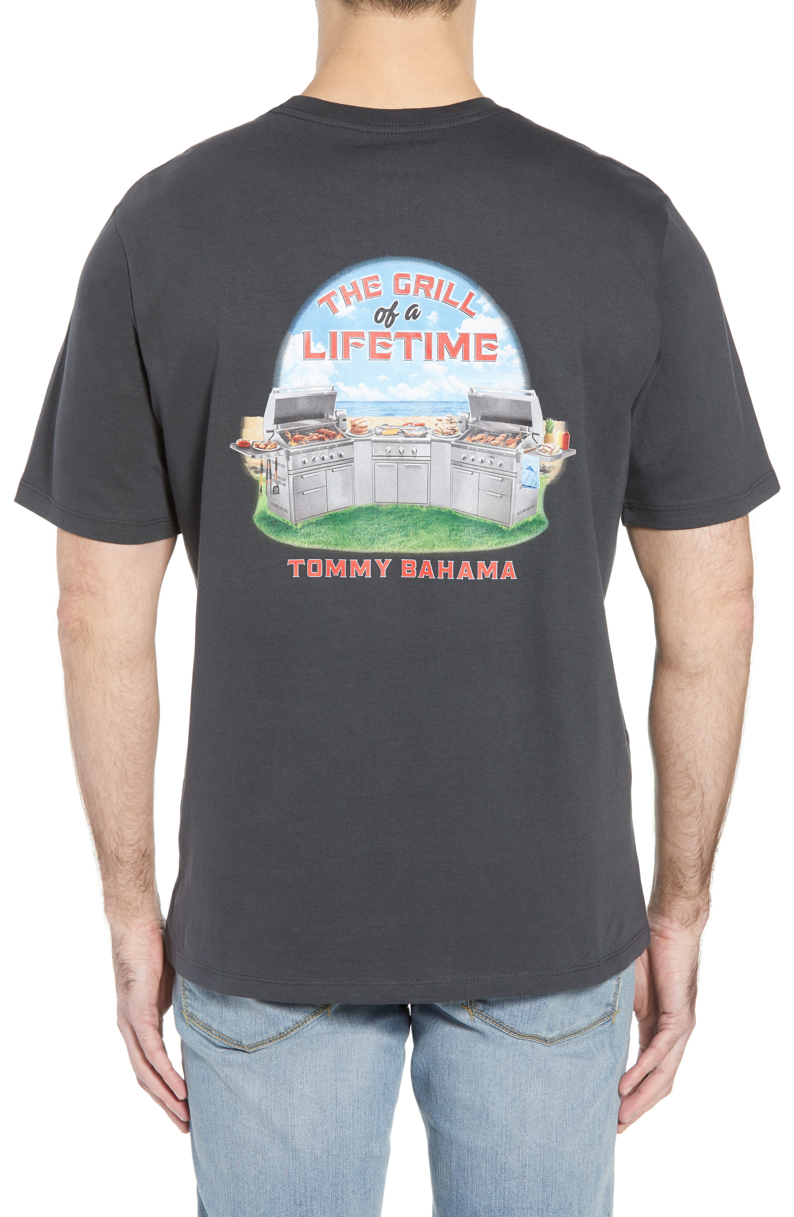 Grill of a Lifetime T-Shirt,                             Alternate thumbnail 2, color,                             Coal