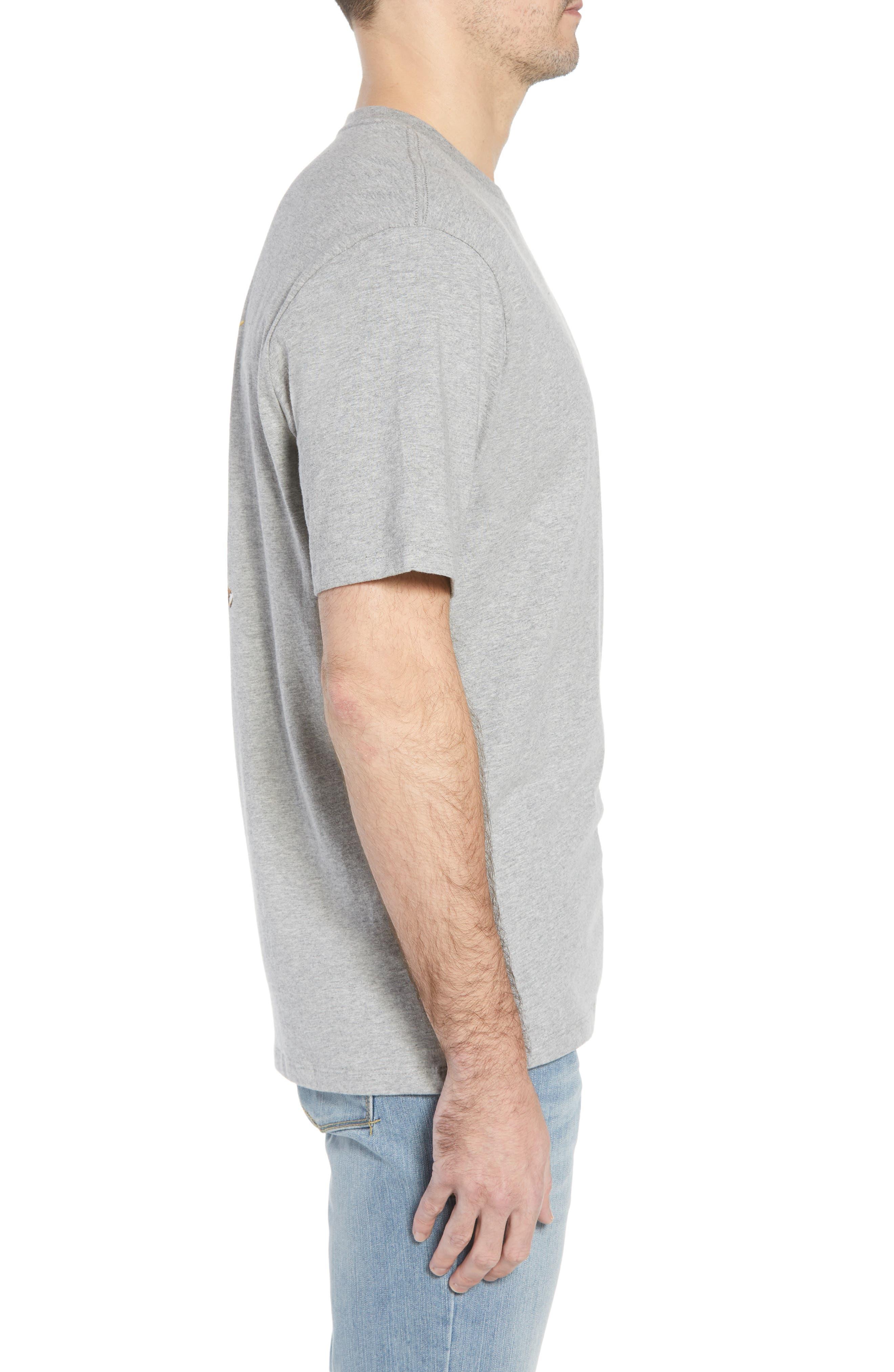 Chalk & Roll T-Shirt,                             Alternate thumbnail 3, color,                             Grey Heather