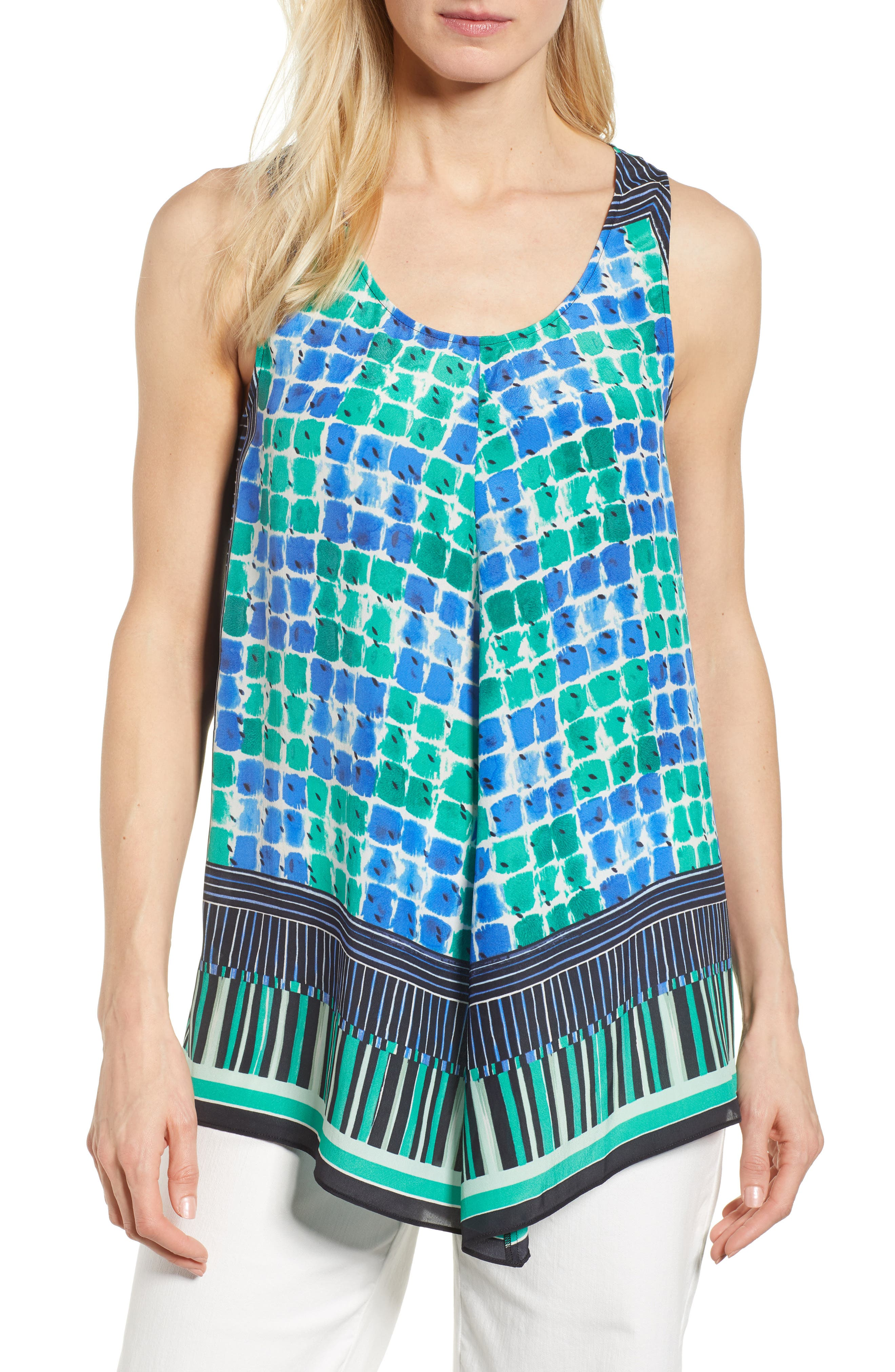 DJ VU Print Tank,                             Main thumbnail 1, color,                             Multi