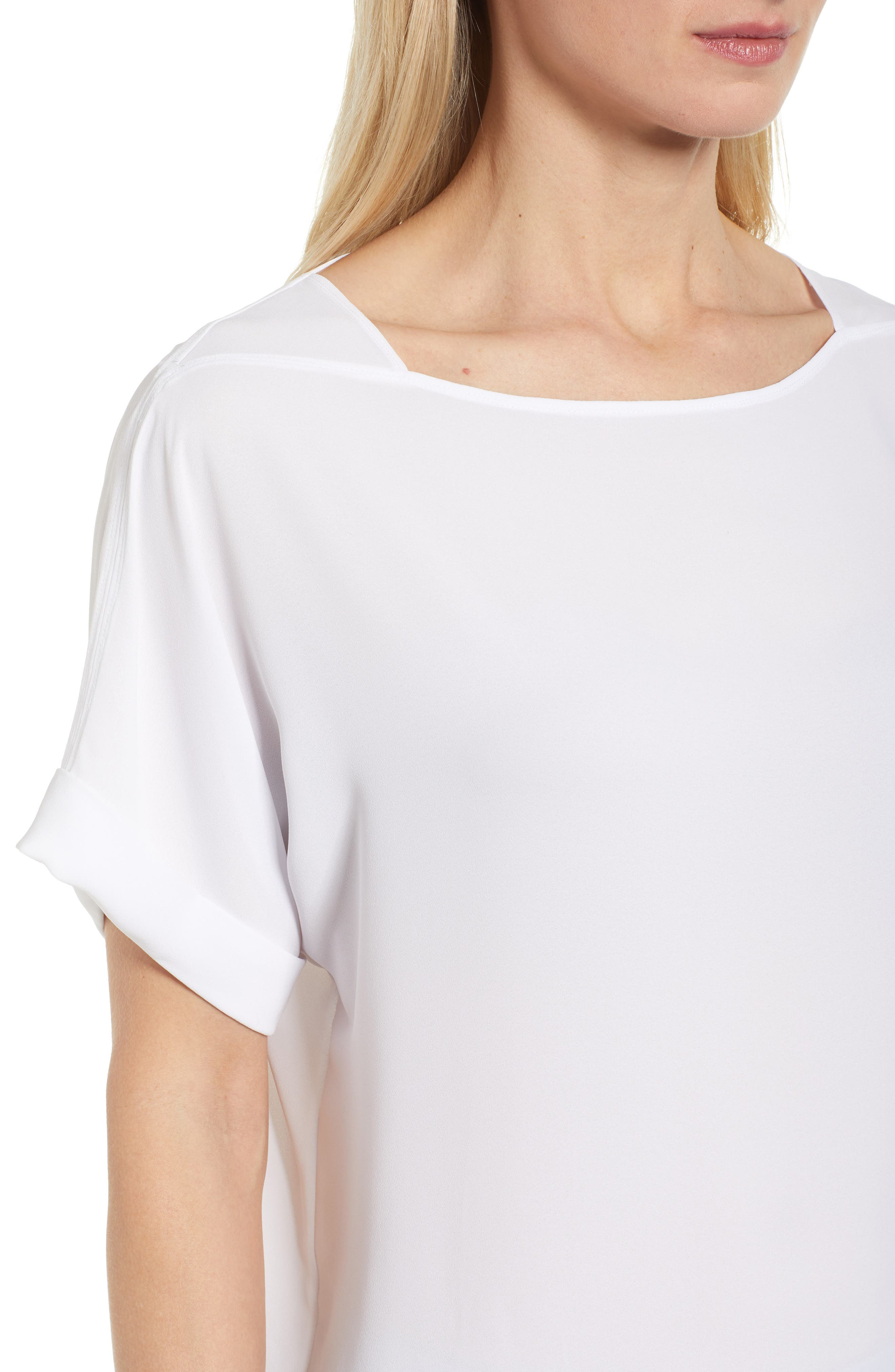 NIC + ZOE Moroccan Tee,                             Alternate thumbnail 4, color,                             Paper White