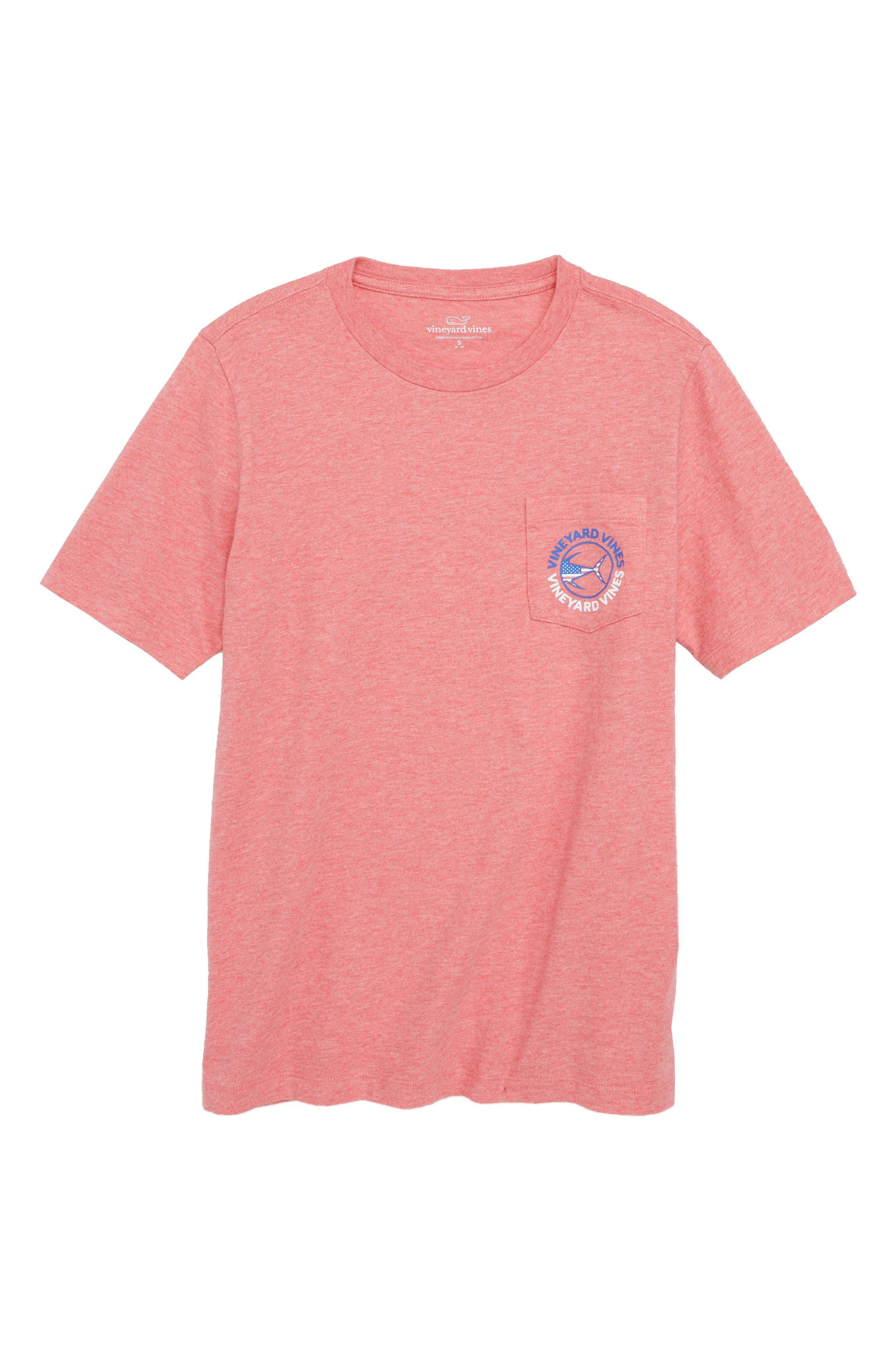 Tuna USA Pocket T-Shirt,                         Main,                         color, Jetty Red