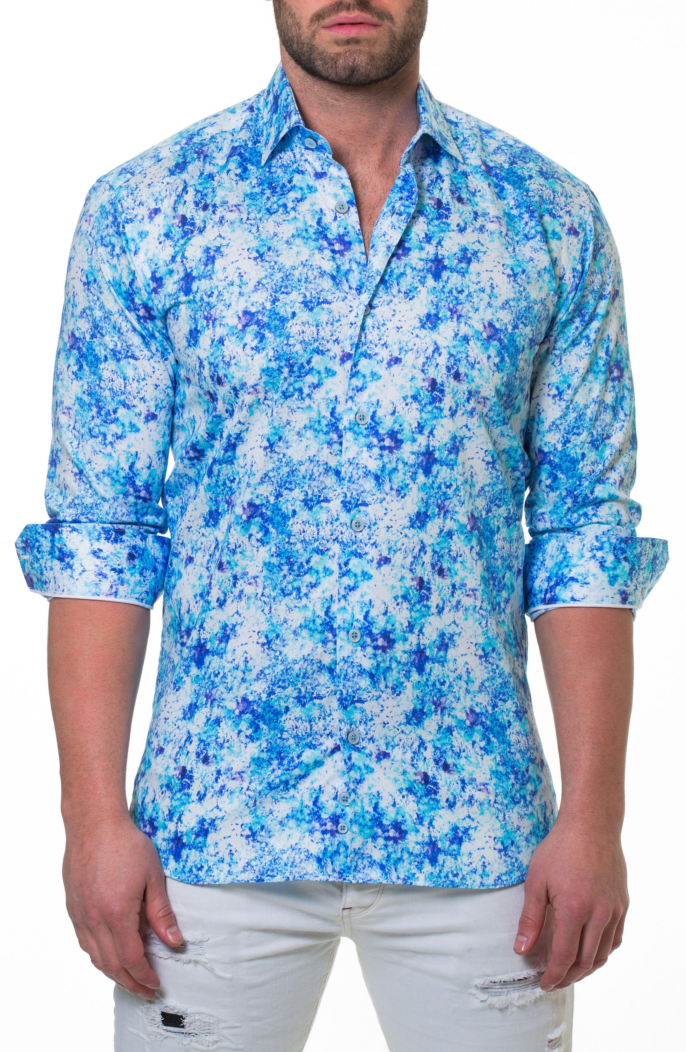 Luxor Noisy Slim Fit Sport Shirt,                         Main,                         color, Blue